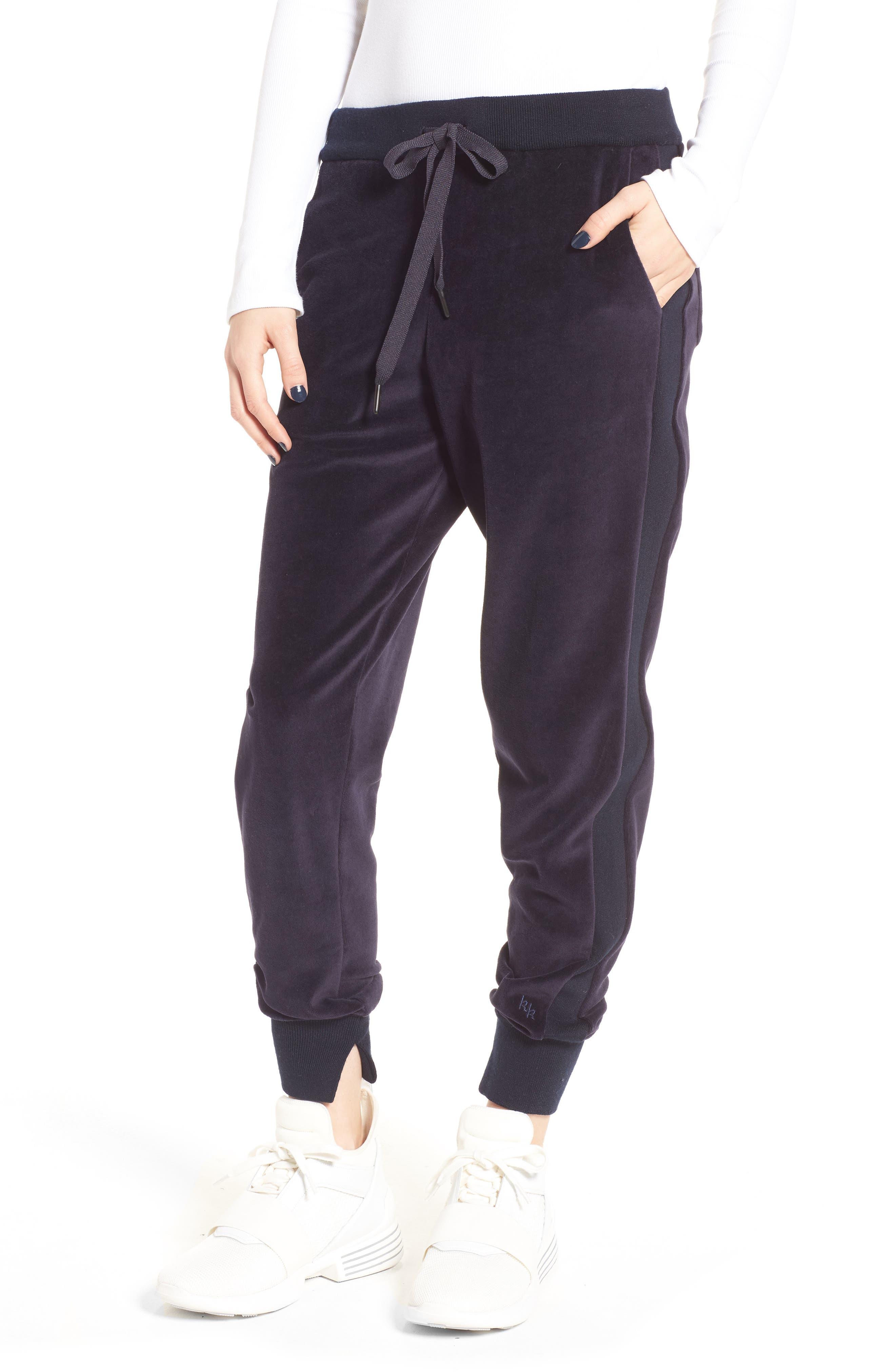 Velour Jogger Pants,                         Main,                         color, Nine Iron