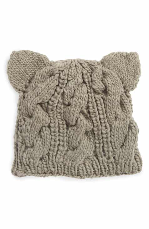 2dde077ee7d Nirvanna Designs Cable Knit Kitty Beanie