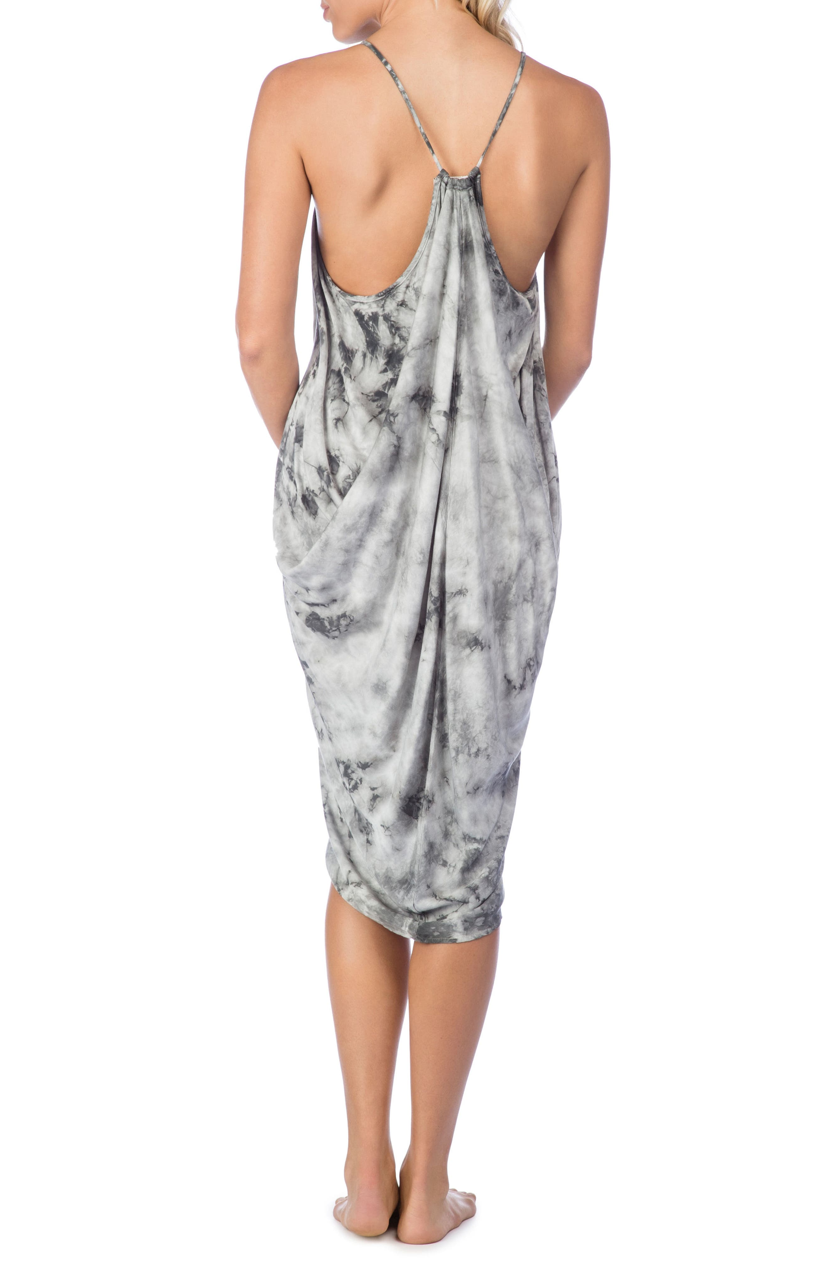 Crystal Forest Genvieve Cover-Up Dress,                             Alternate thumbnail 2, color,                             Charcoal