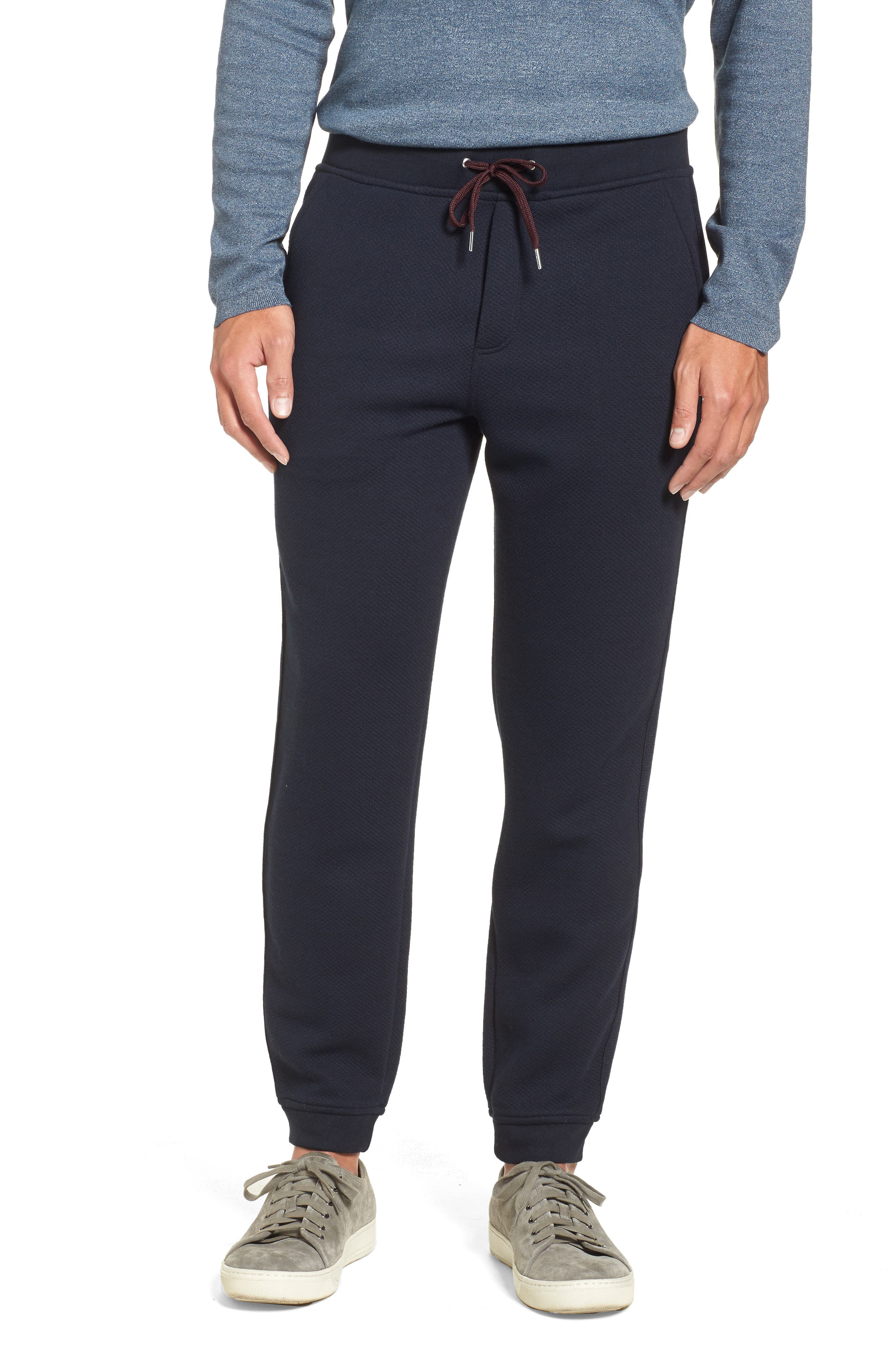 Ted Baker London Lanlord Textured Jersey Jogger Pants