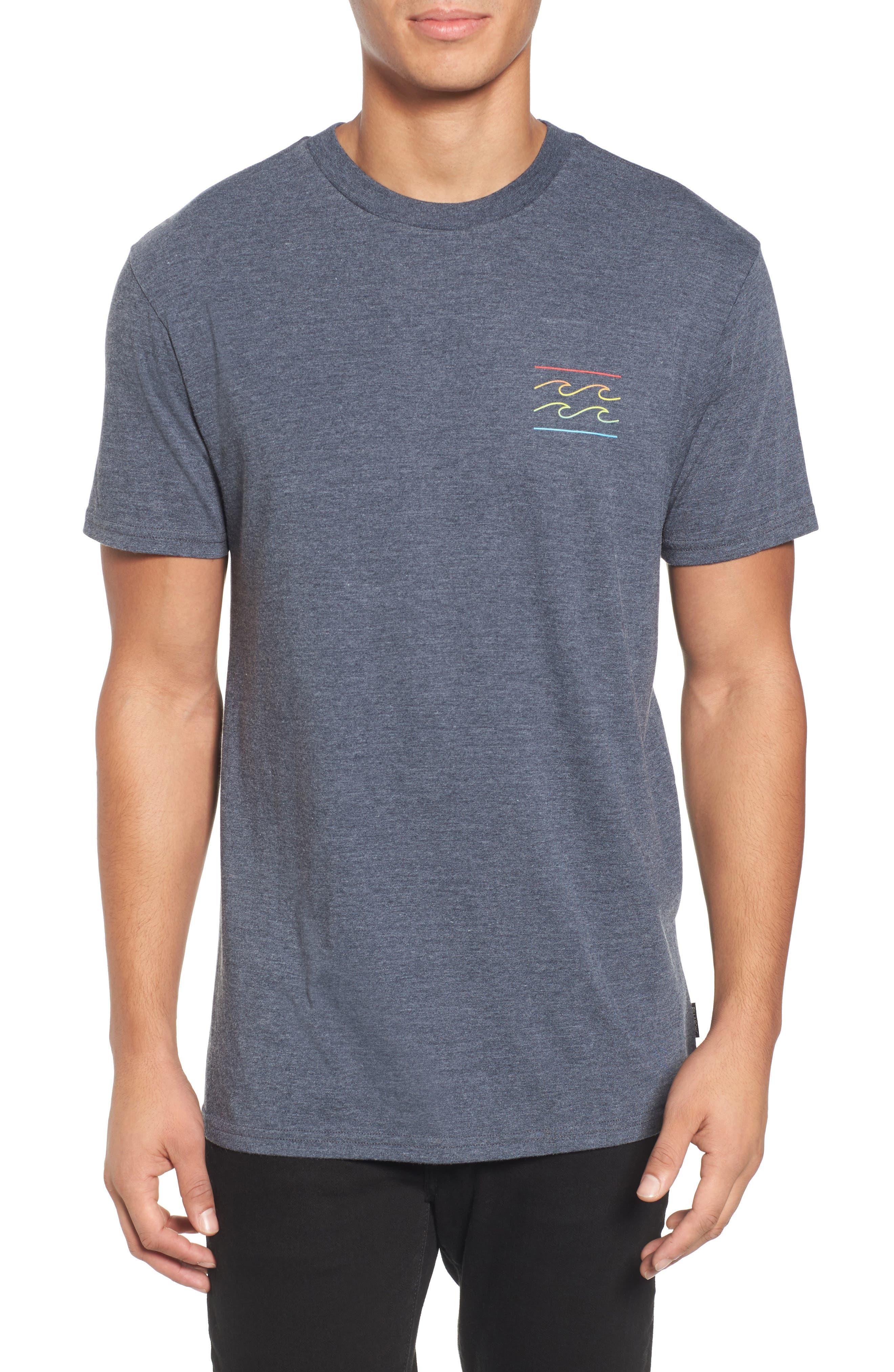 Flat Line T-Shirt,                             Main thumbnail 1, color,                             Indigo Heather