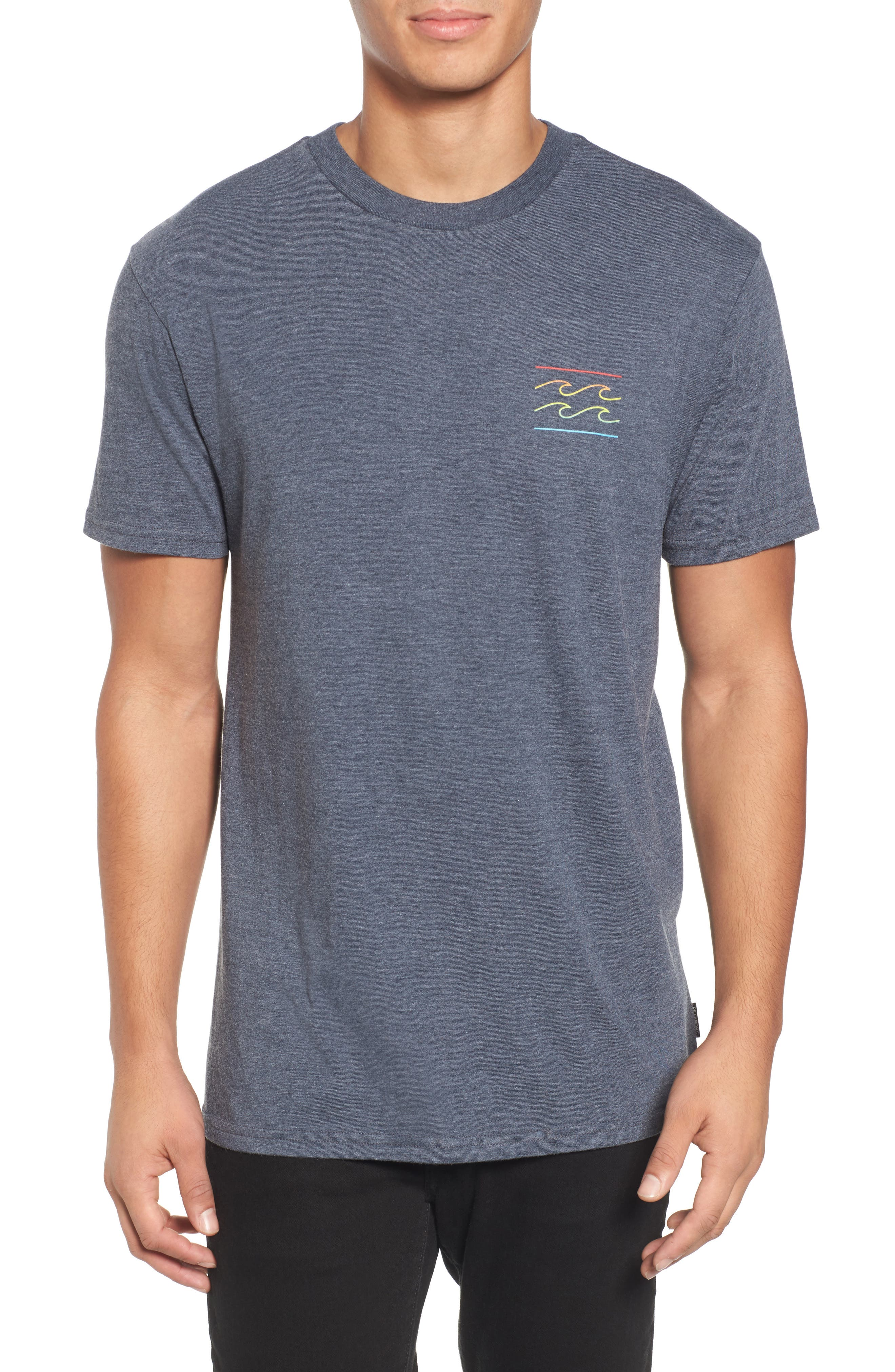 Flat Line T-Shirt,                         Main,                         color, Indigo Heather