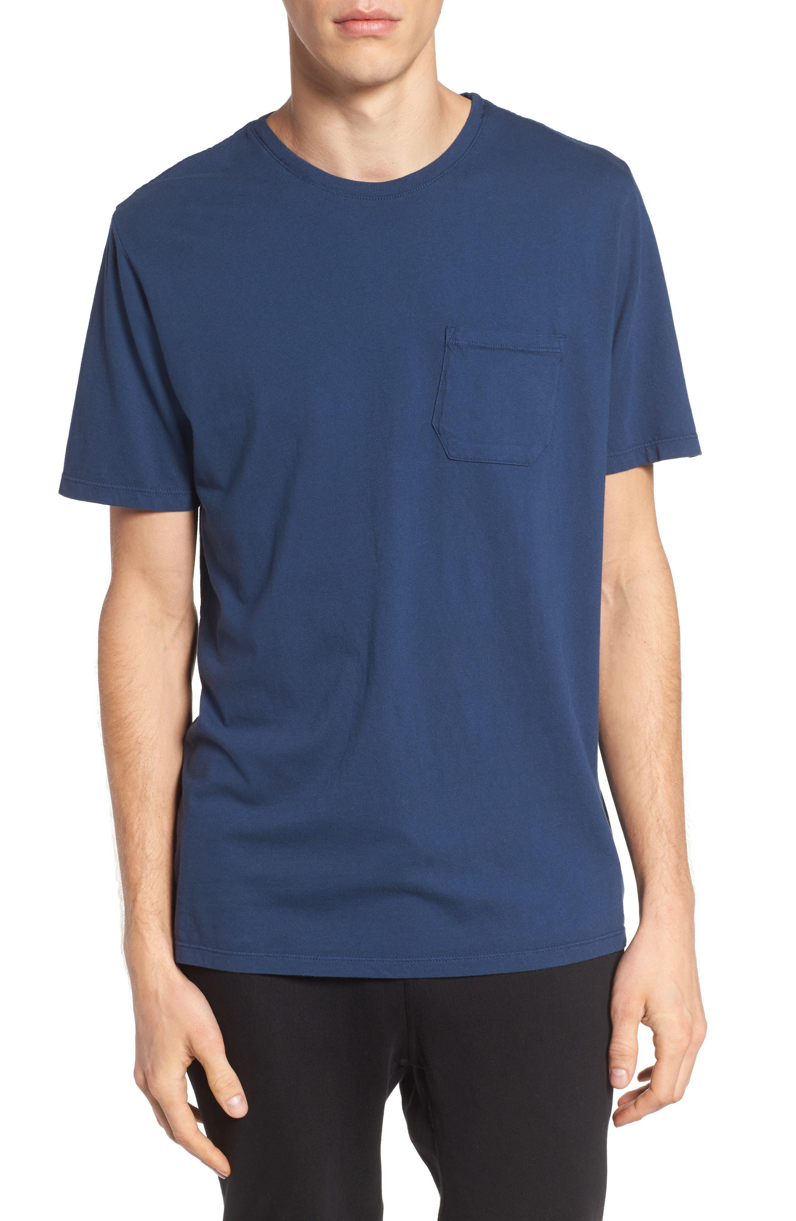 Lounge Pocket T-Shirt,                         Main,                         color, Navy