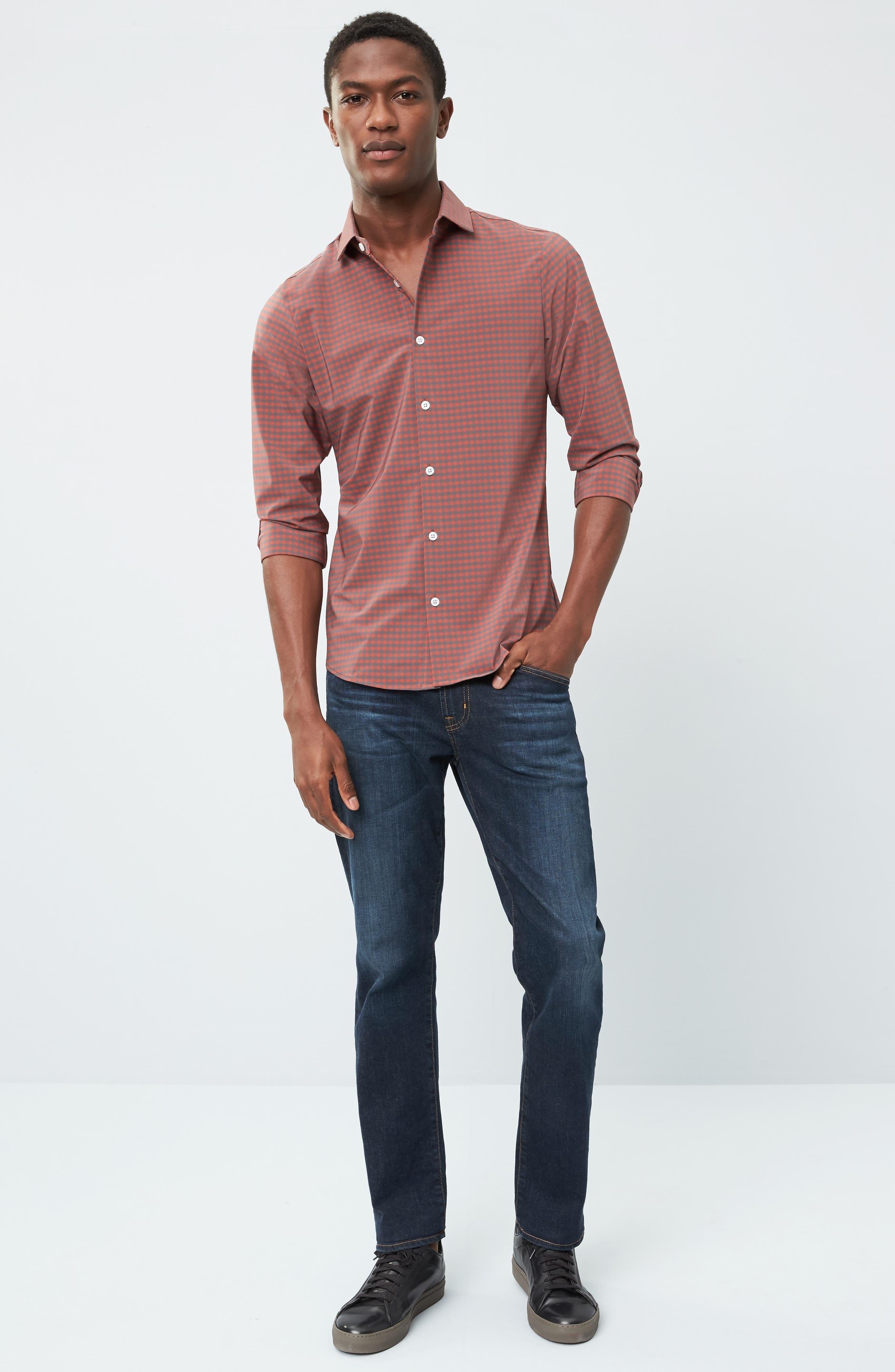 Alternate Image 7  - Mizzen+Main Douglas Grey & Chili Check Sport Shirt