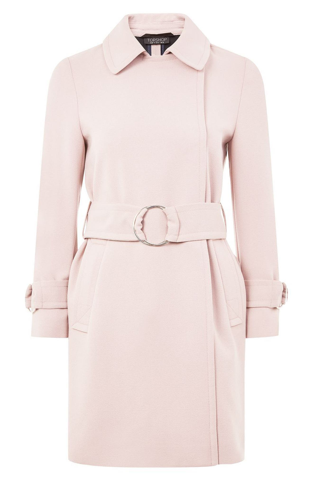Alternate Image 4  - Topshop Daisy Crepe Truster Trench Coat