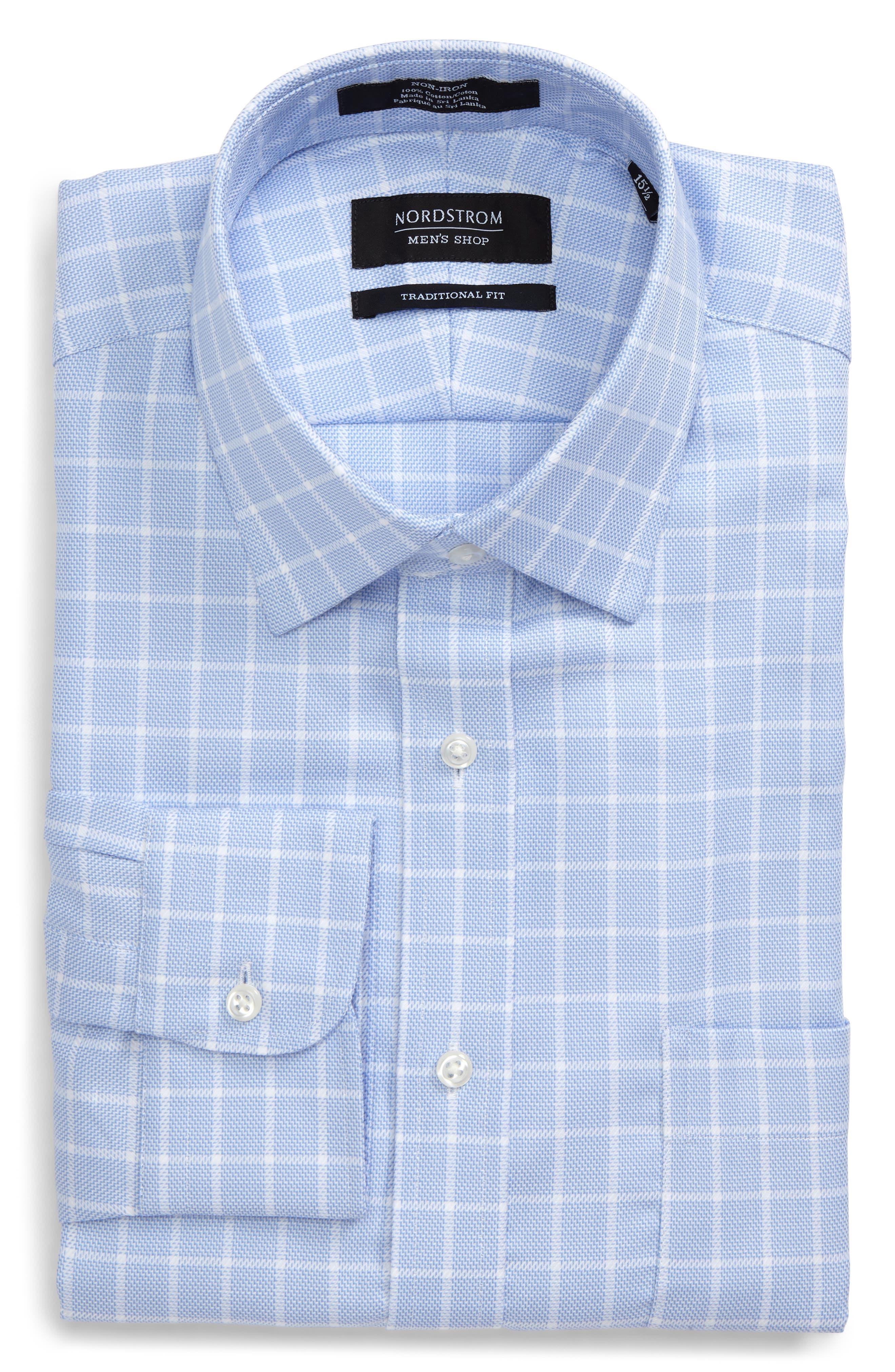 Alternate Image 3  - Nordstrom Men's Shop Traditional Fit No-Iron Check Dress Shirt
