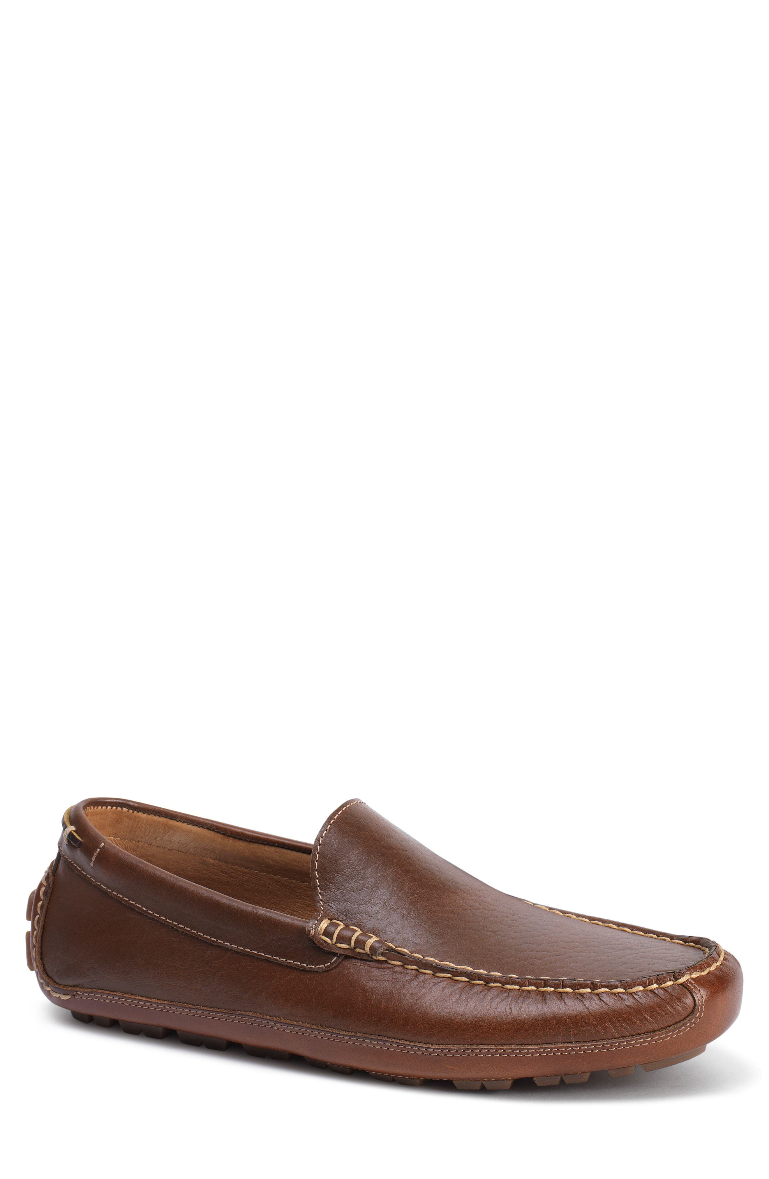 Dean Driving Shoe,                             Main thumbnail 1, color,                             Saddle Tan Leather