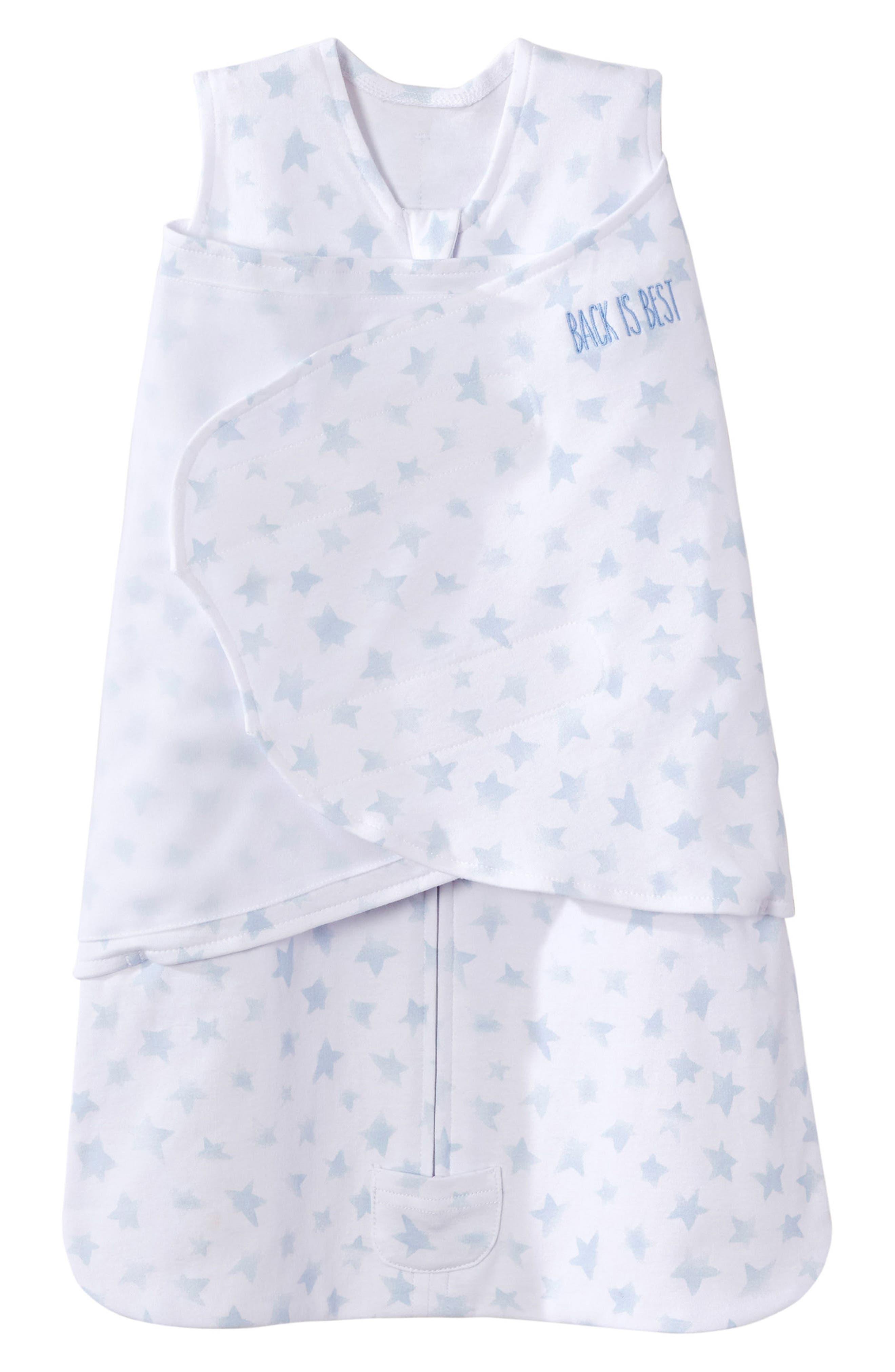 Platinum Series SleepSack<sup>™</sup> Swaddle,                         Main,                         color, Pale Blue Twinkle