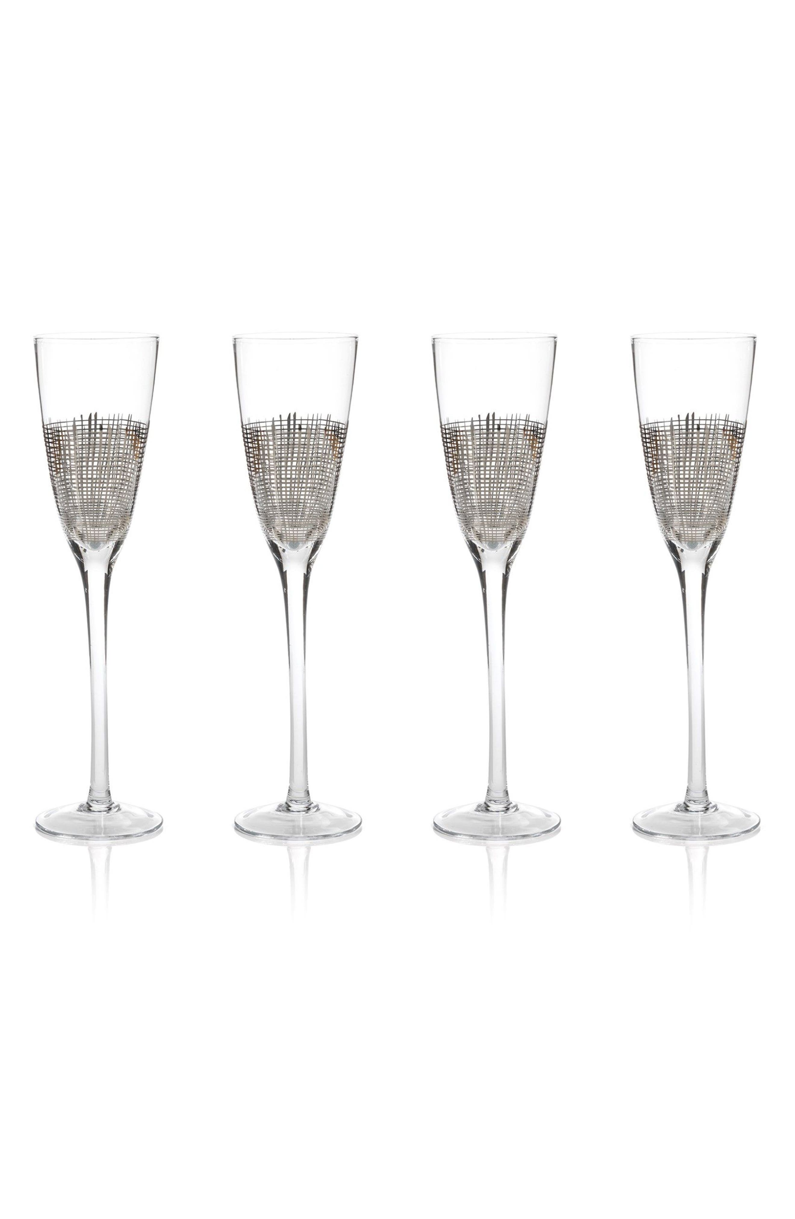 Alternate Image 1 Selected - Zodax Reza Set of 4 Champagne Flutes