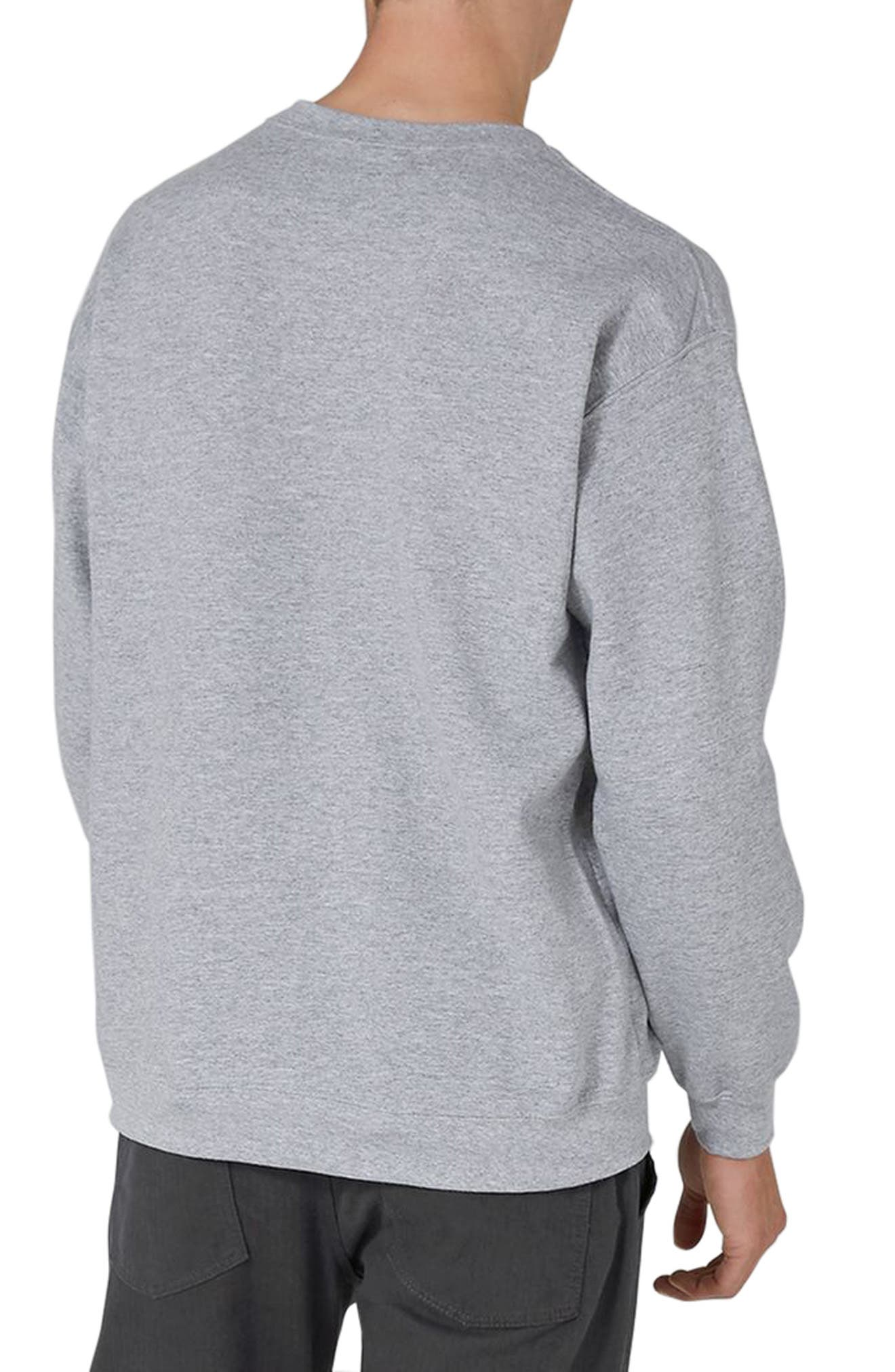 Alternate Image 2  - Topman Rose Embroidered Sweatshirt