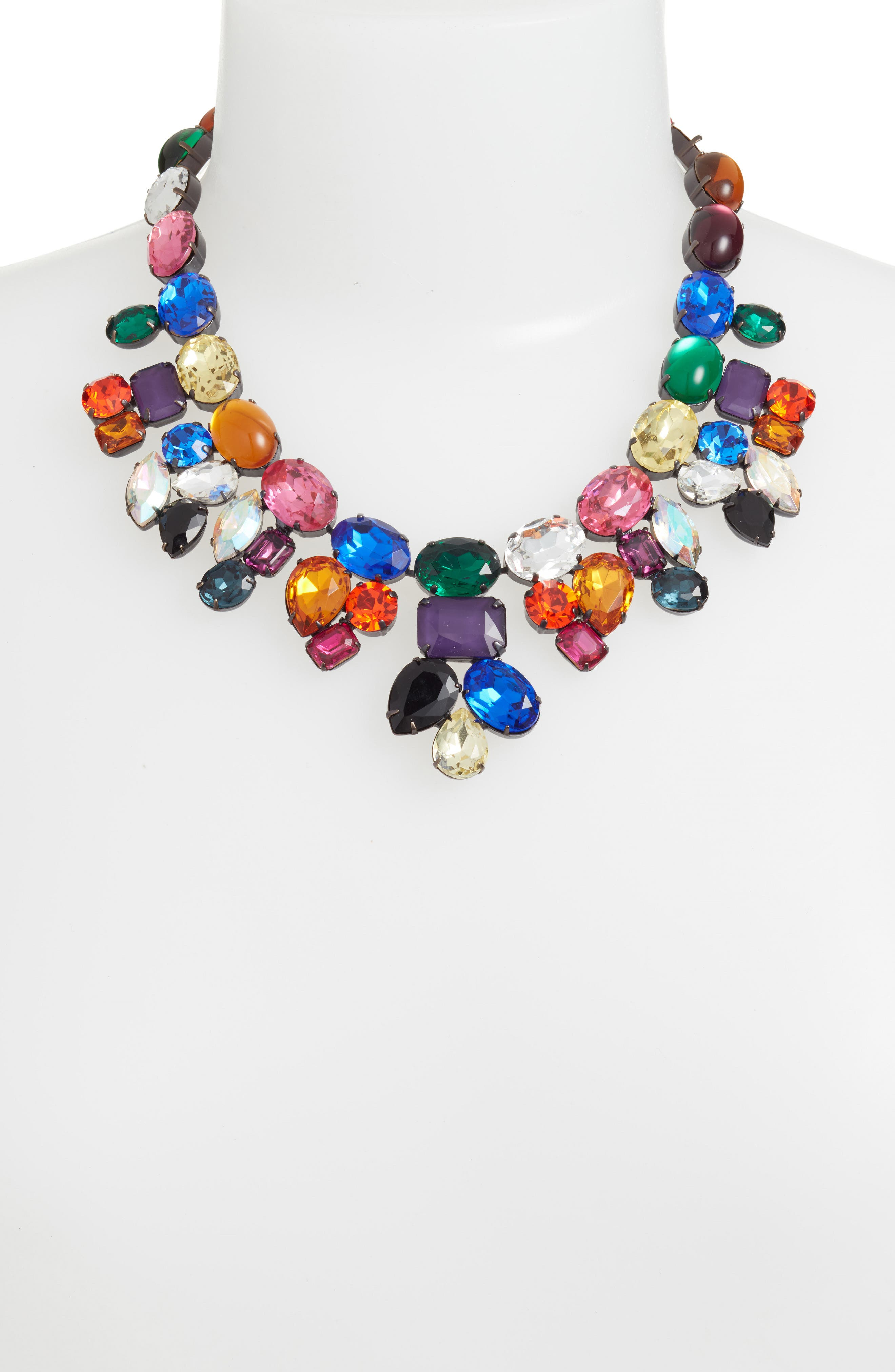 Tori Crystal Choker Necklace,                             Alternate thumbnail 2, color,                             Multi