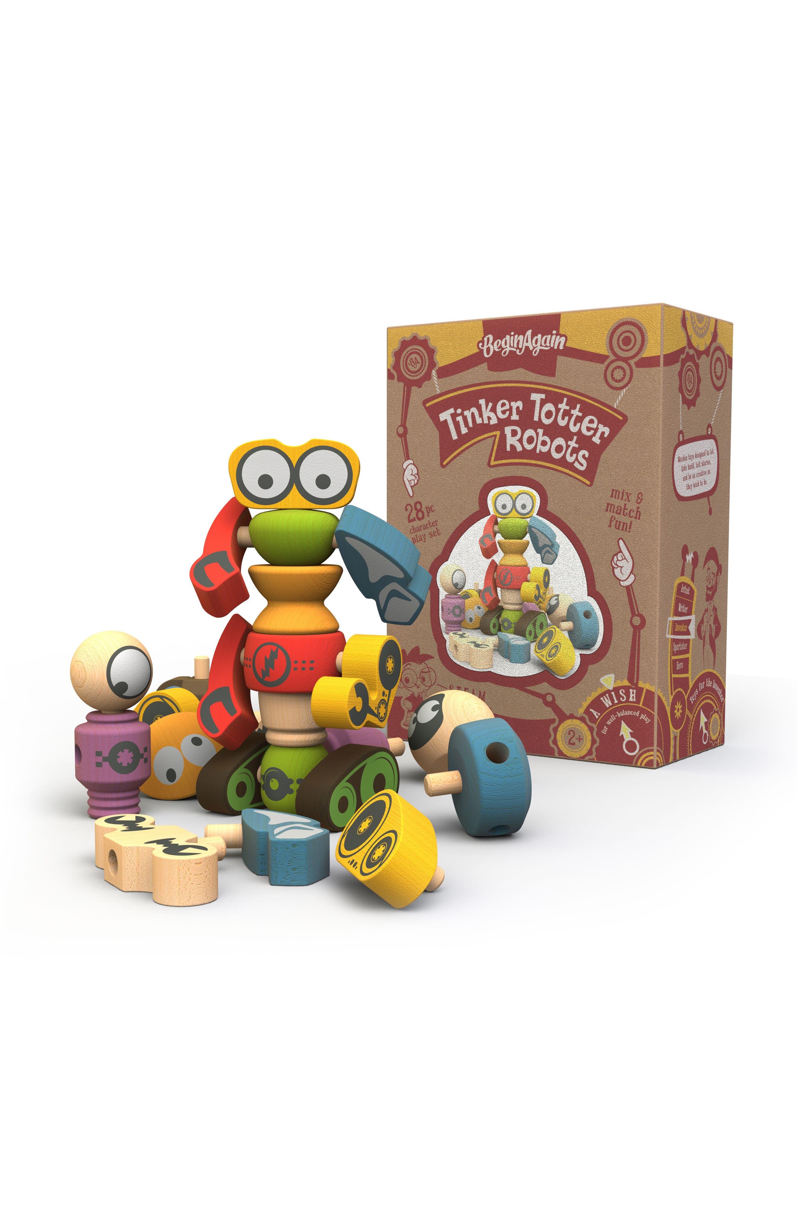 BeginAgain Tinker Totter Robots 28-Piece Play Set