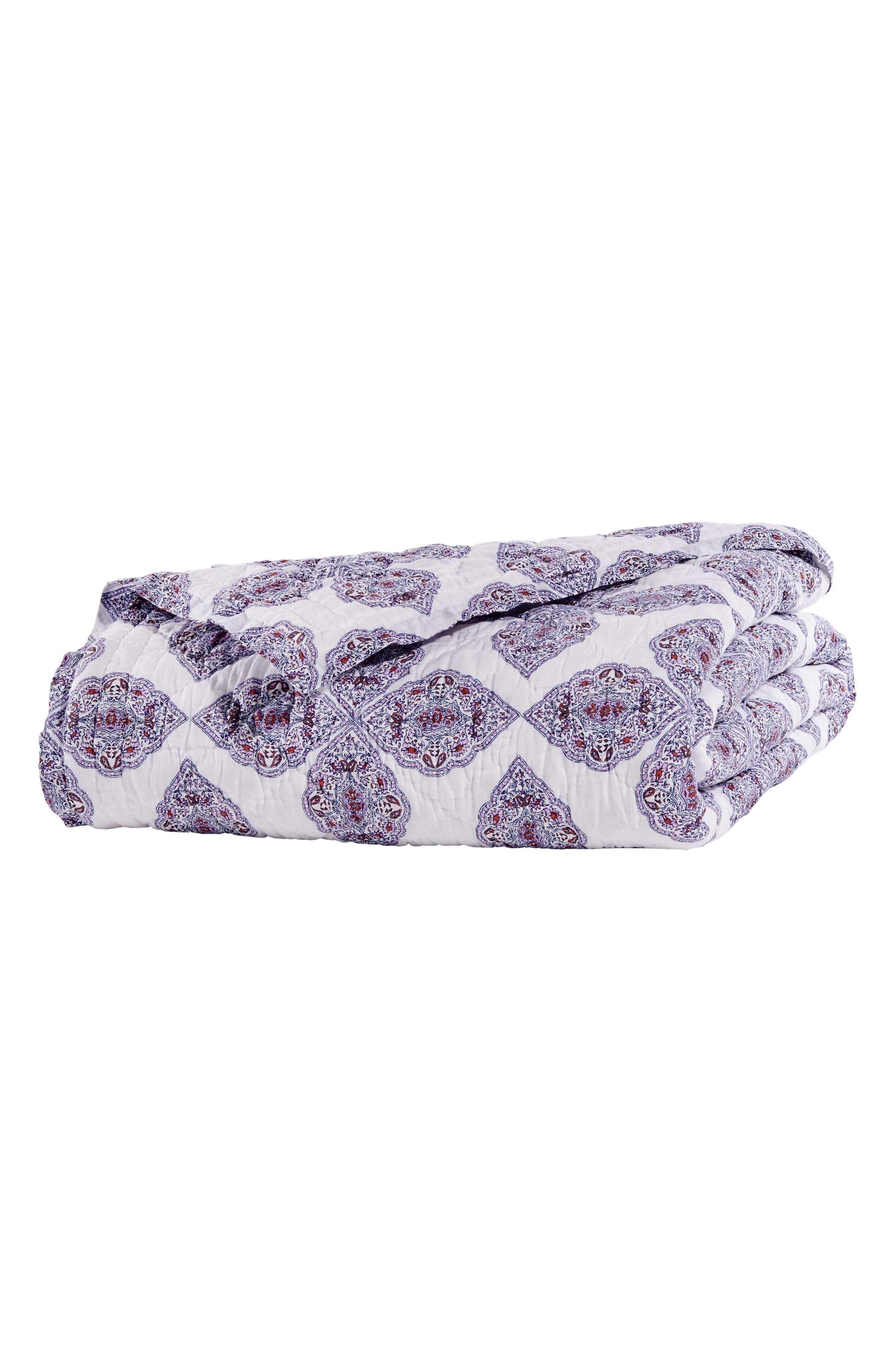 Tarati Quilt,                             Alternate thumbnail 2, color,                             Lavender/ Purple/ White