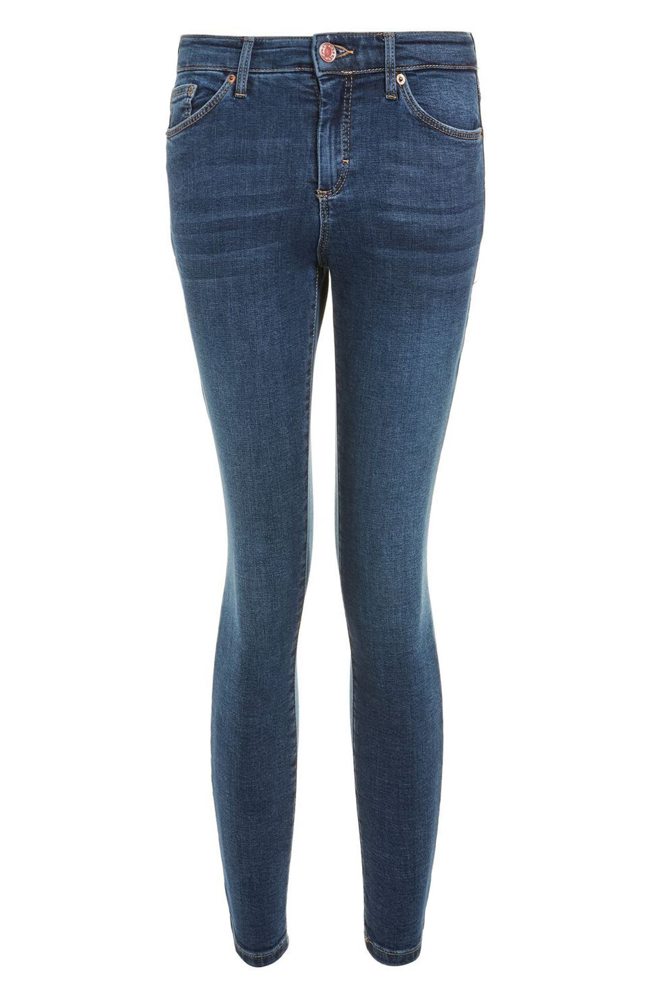 Sidney Ankle Skinny Jeans,                             Alternate thumbnail 4, color,                             Mid Denim