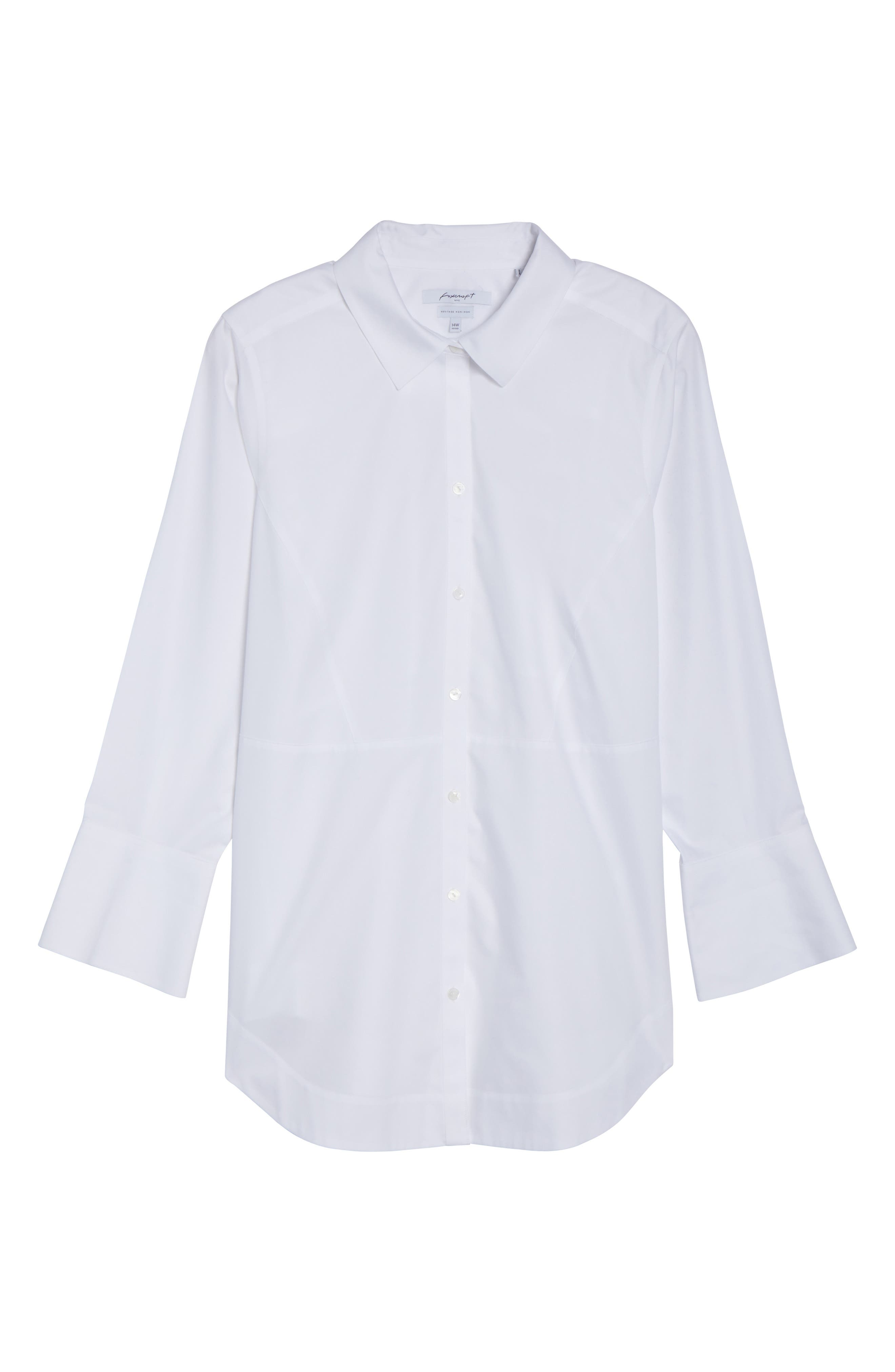 Alternate Image 6  - Foxcroft Patrice Solid Shirt (Plus Size)