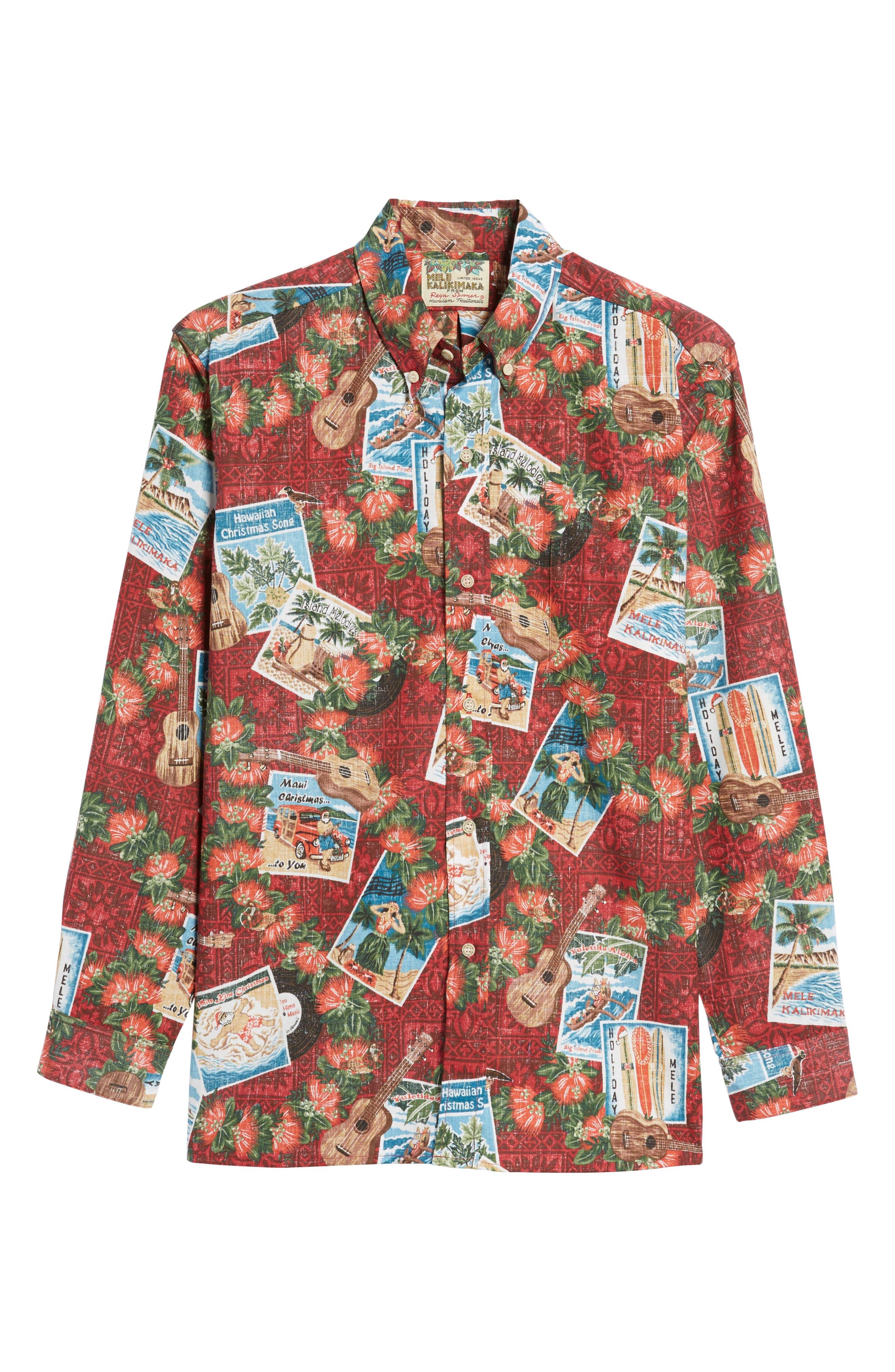 Alternate Image 6  - Reyn Spooner Hawaiian Christmas 2017 Sport Shirt