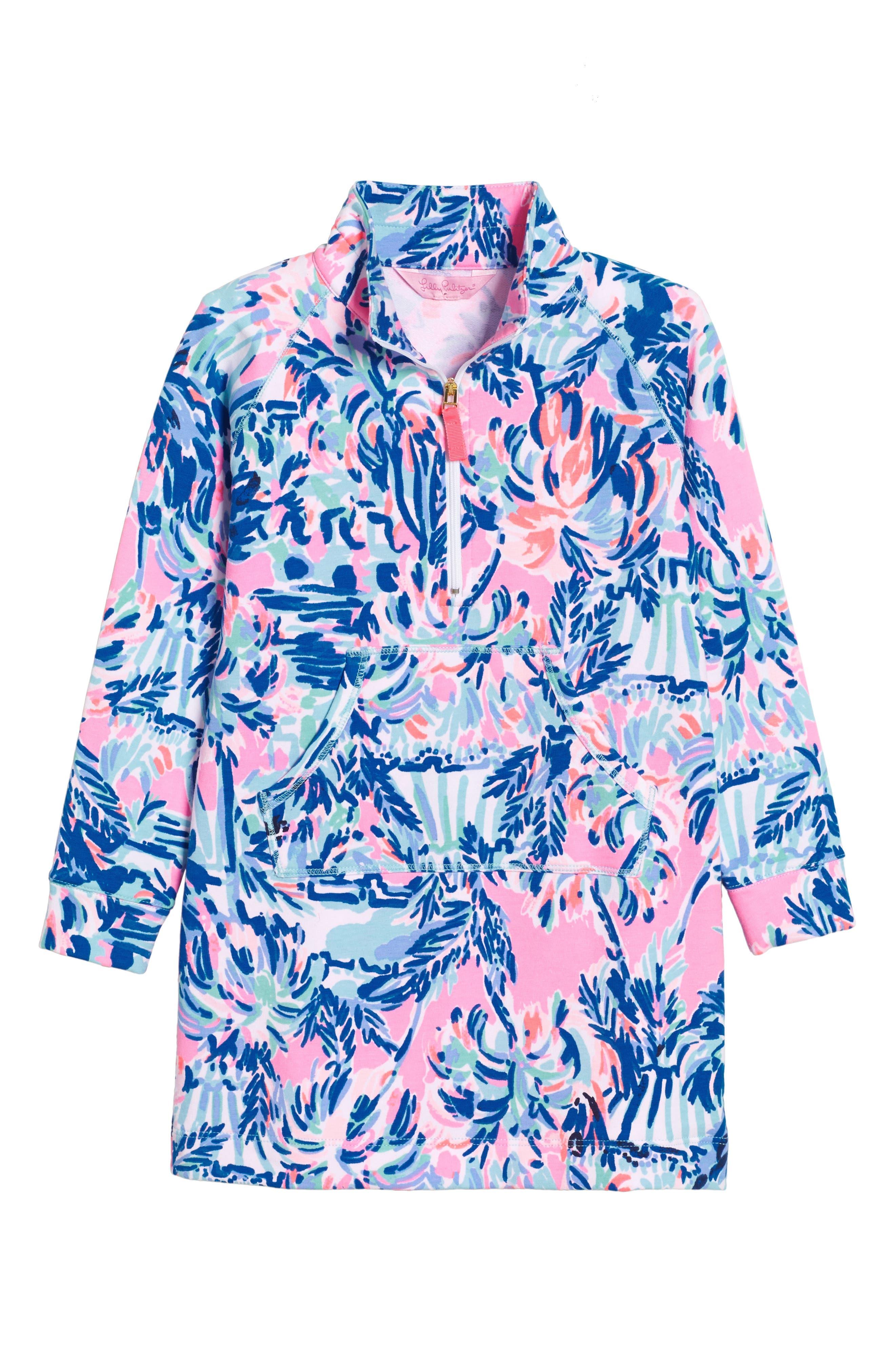 Mini Skipper Dress,                         Main,                         color, Multi Cabana Cocktail Reduced