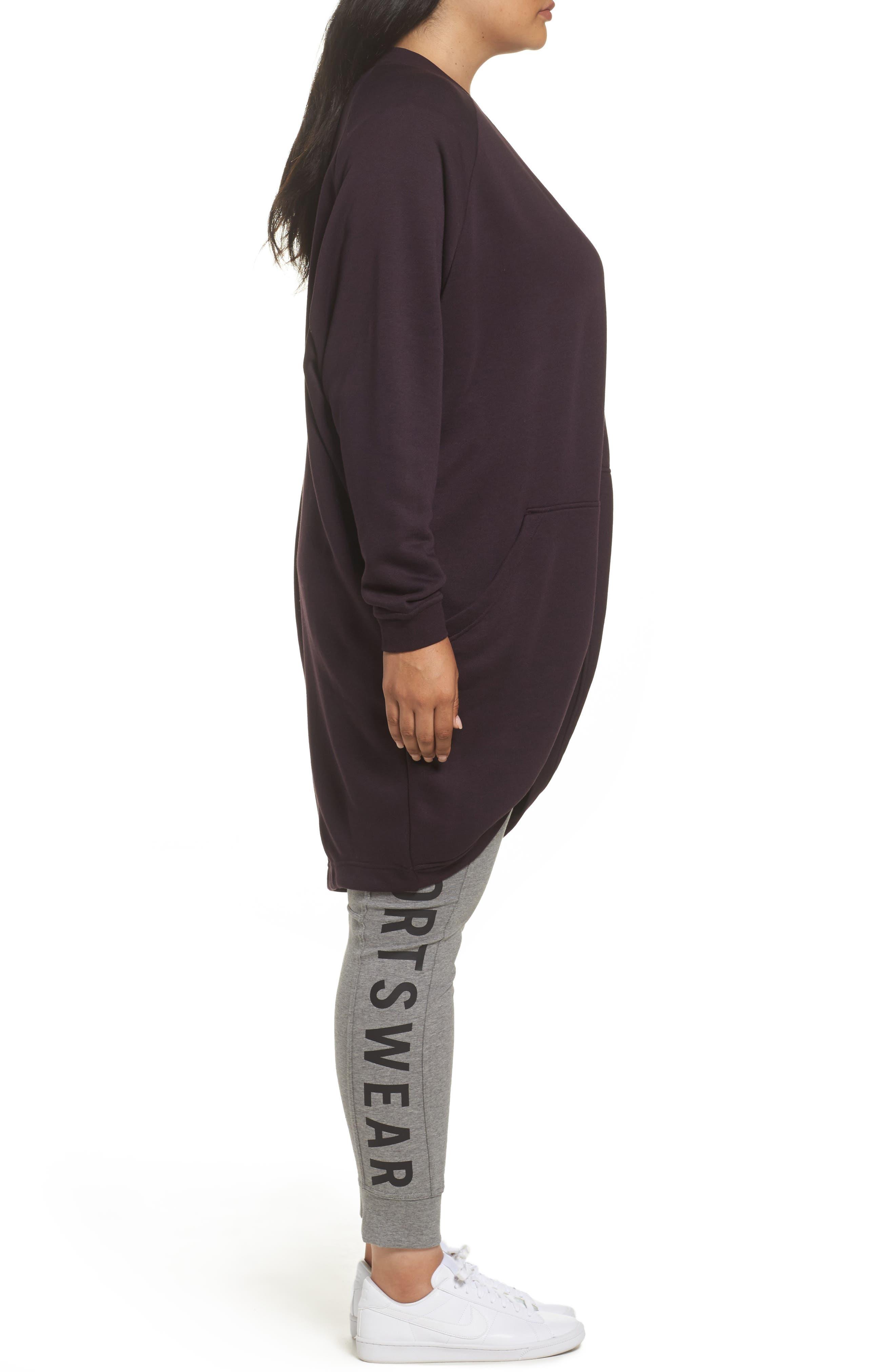 Sportswear Modern Cardigan,                             Alternate thumbnail 3, color,                             Port Wine/ Port Wine