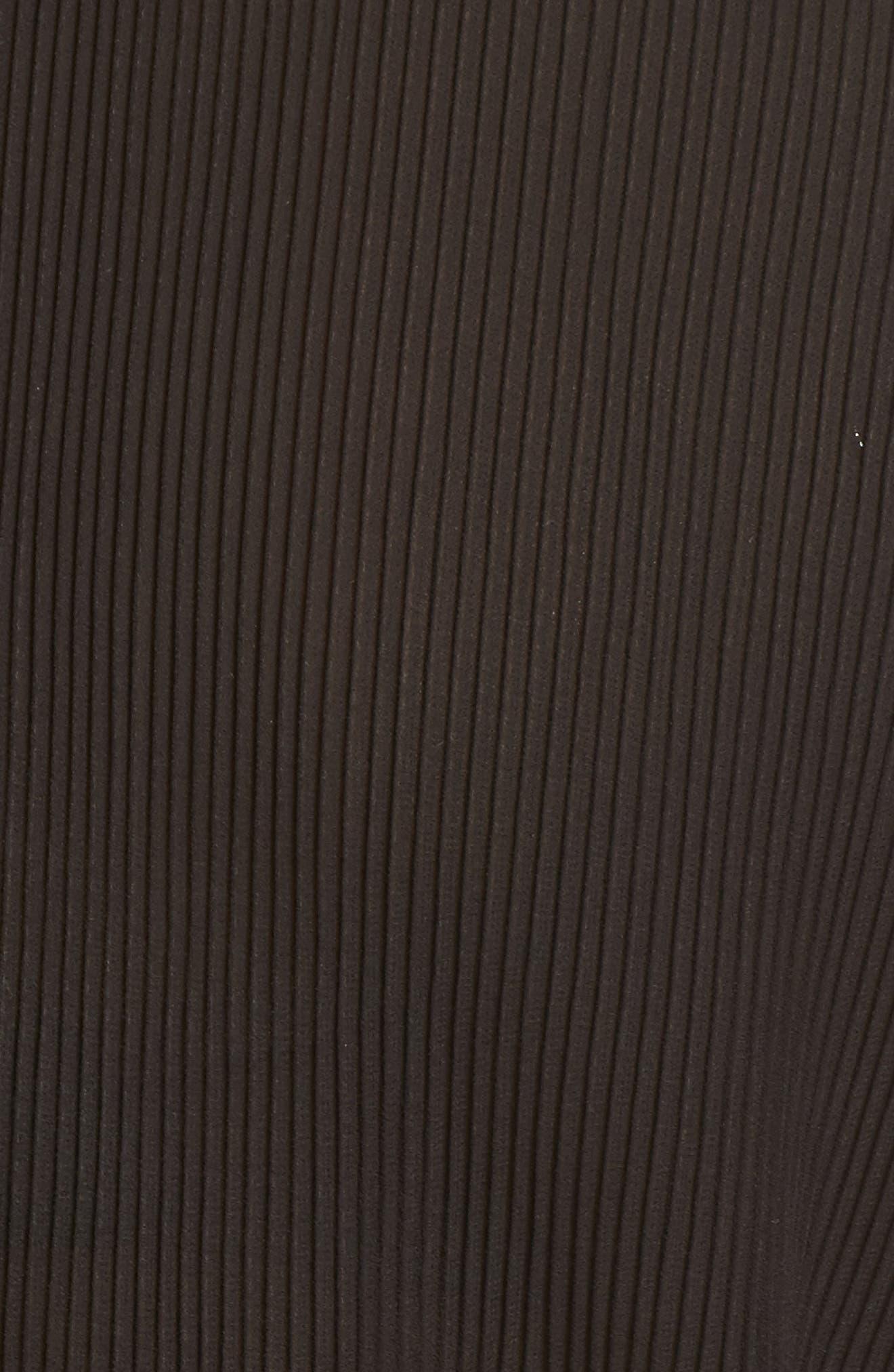 Pleated Chiffon Blouse,                             Alternate thumbnail 5, color,                             Black