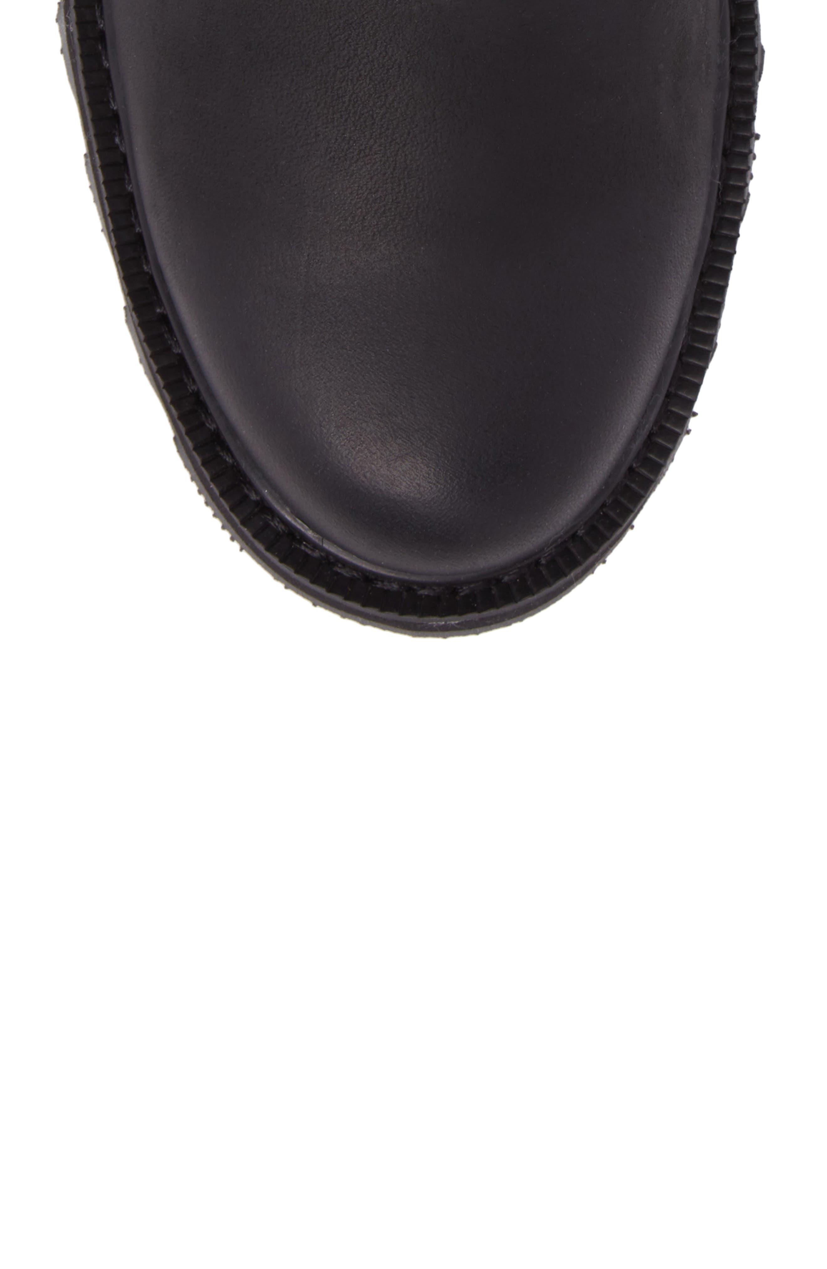 Madson Waterproof Chelsea Boot,                             Alternate thumbnail 5, color,                             Black