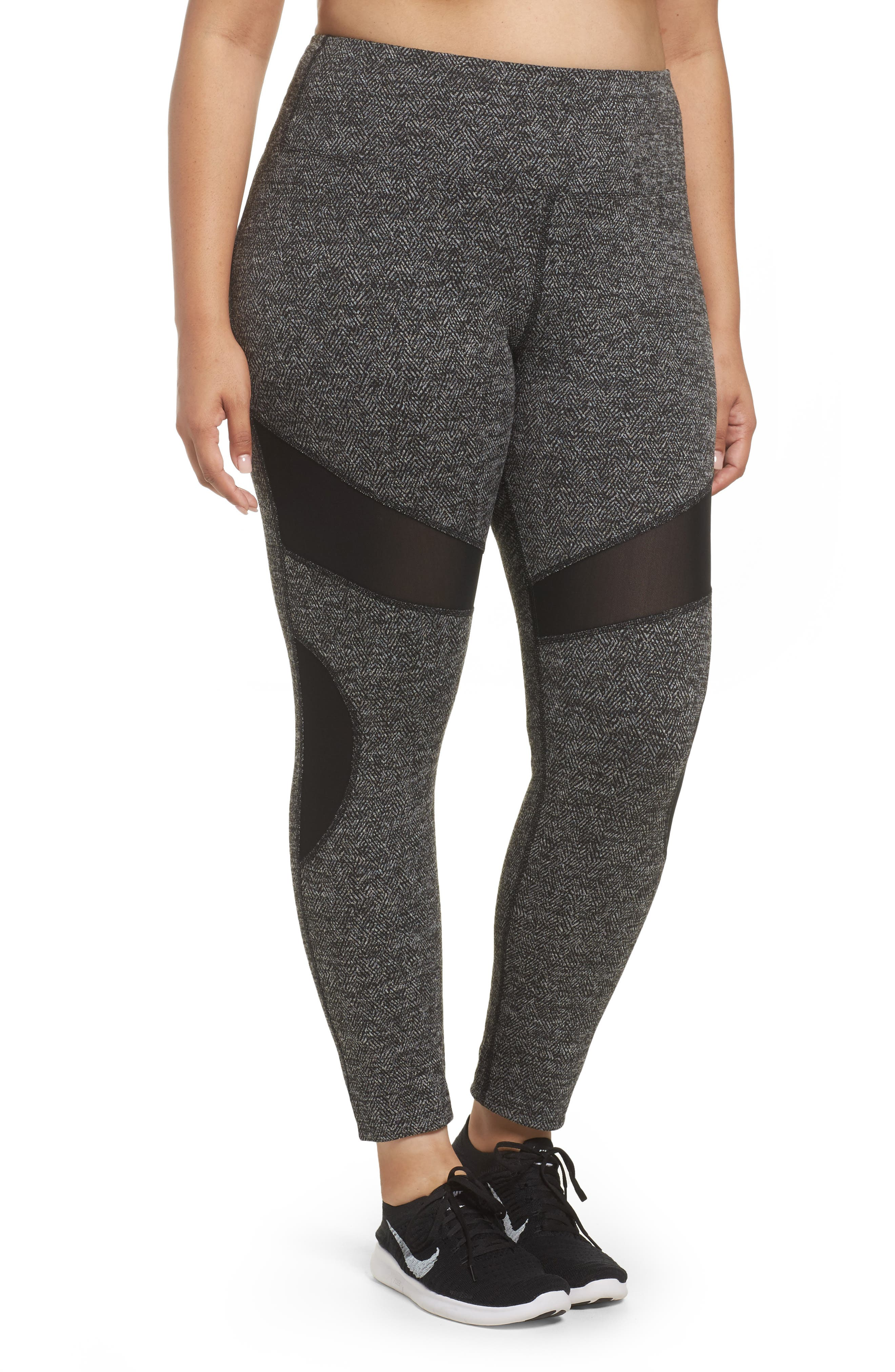 Optic High Waist Leggings,                         Main,                         color, Black
