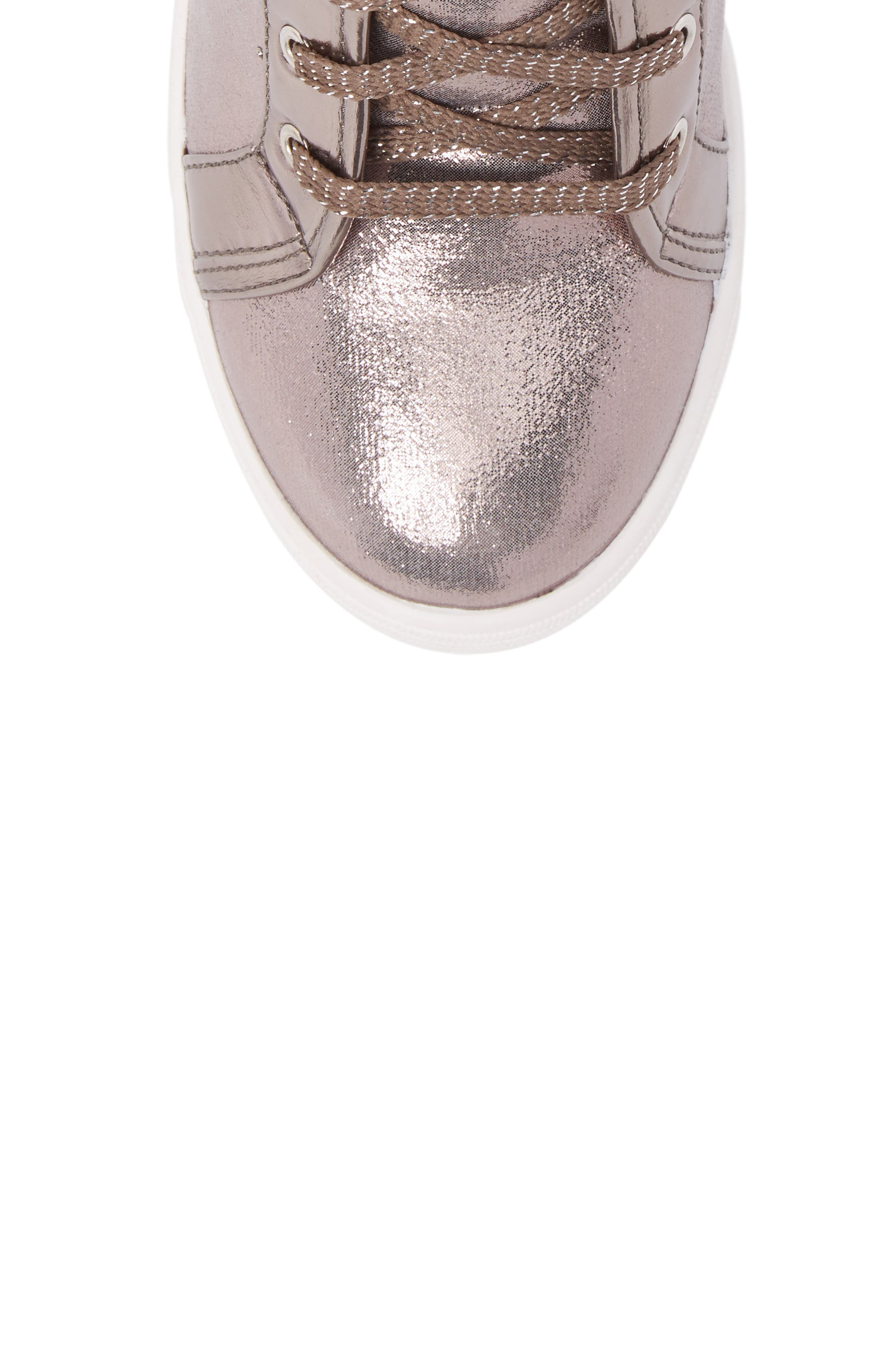 Vance Double Embellished Concealed Wedge High Top,                             Alternate thumbnail 5, color,                             Pewter