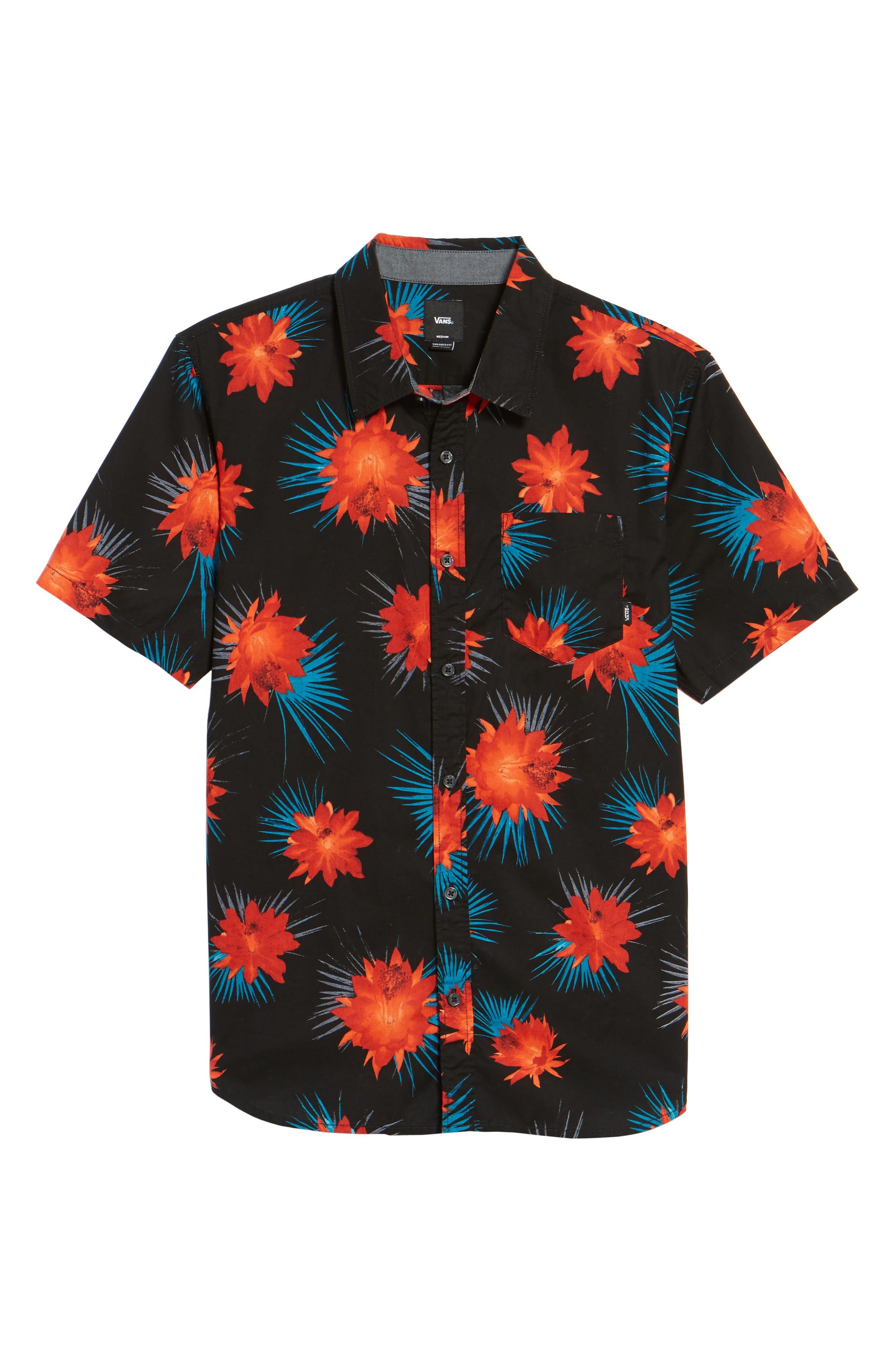 Cultivar Woven Shirt,                             Alternate thumbnail 6, color,                             Cactus Floral