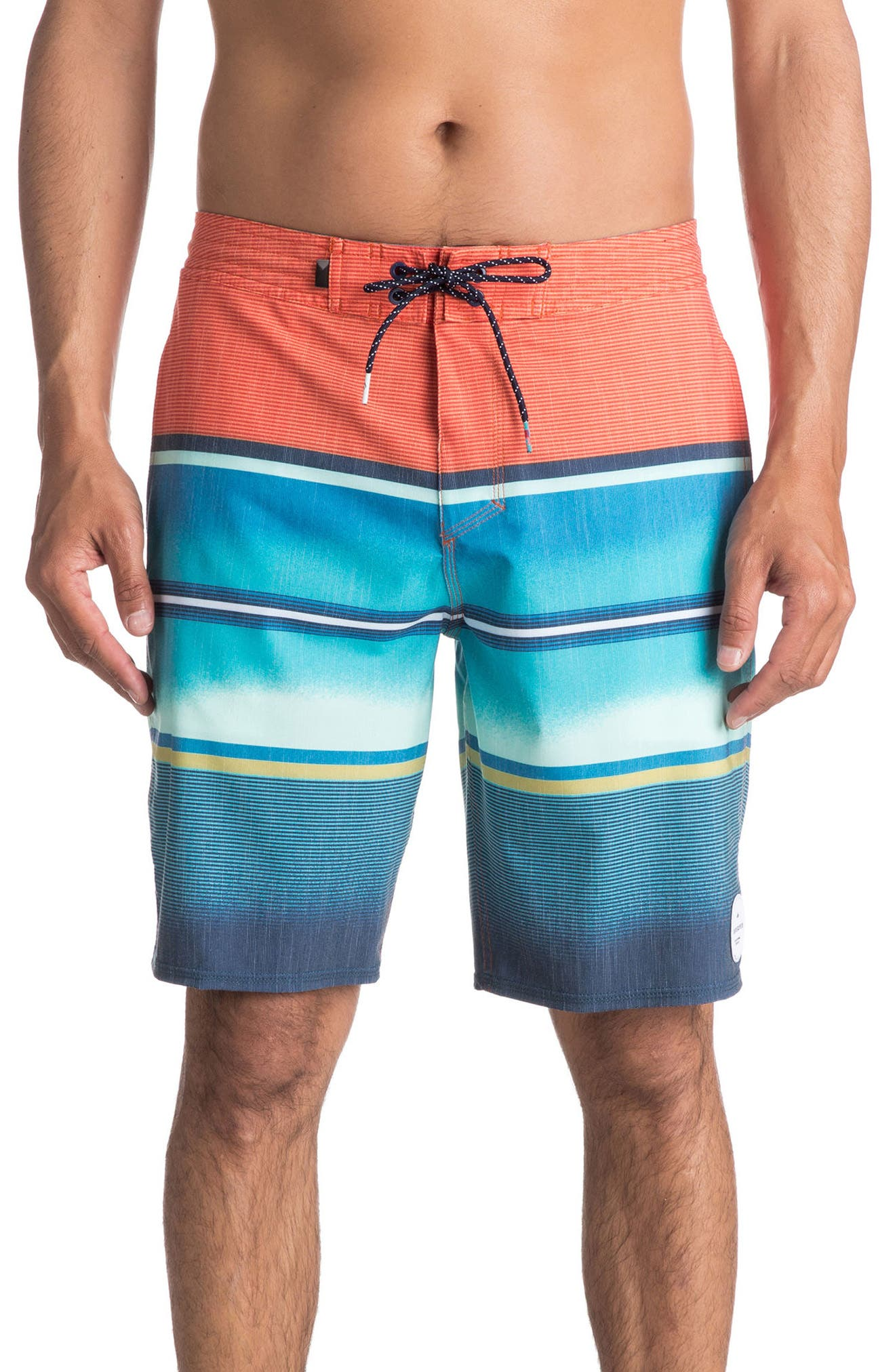 Swell Vision Board Shorts,                         Main,                         color, Coral Rose