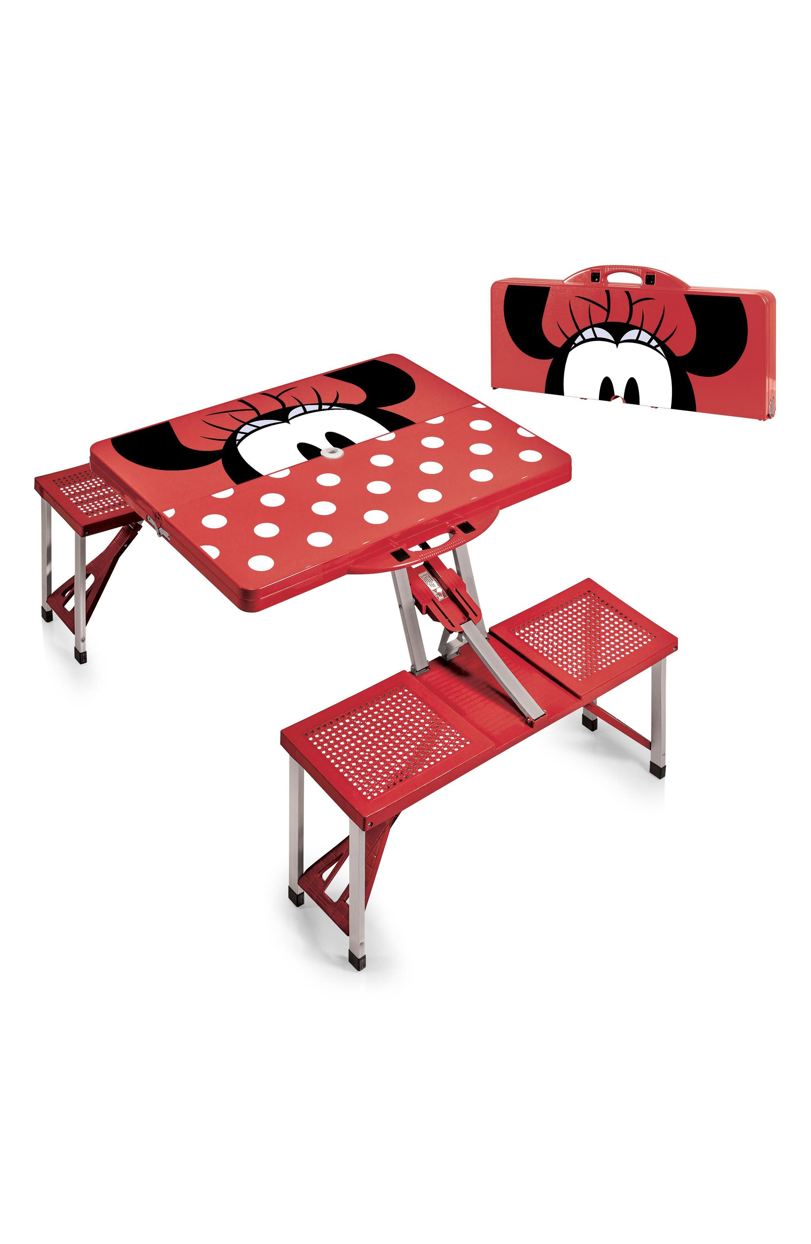 Disney<sup>®</sup> Mickey Mouse Portable Folding Table,                             Alternate thumbnail 3, color,                             Red