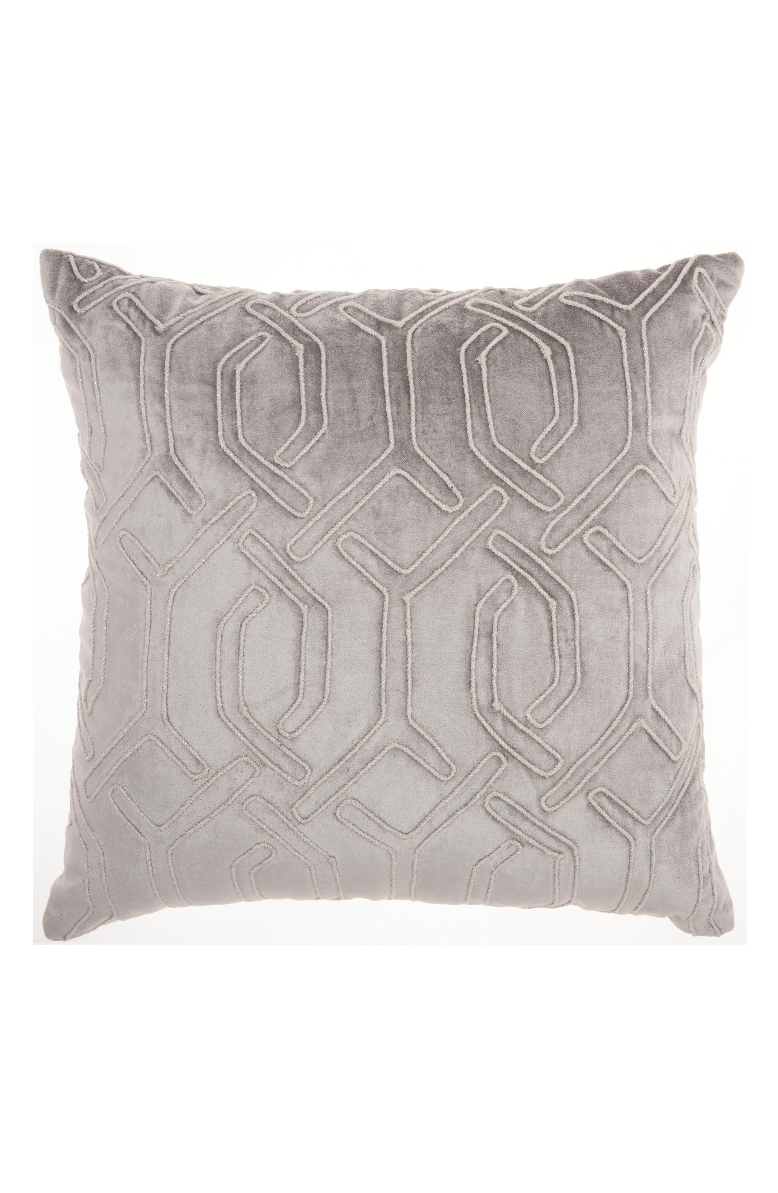 Mina Victory Velvet Gate Accent Pillow