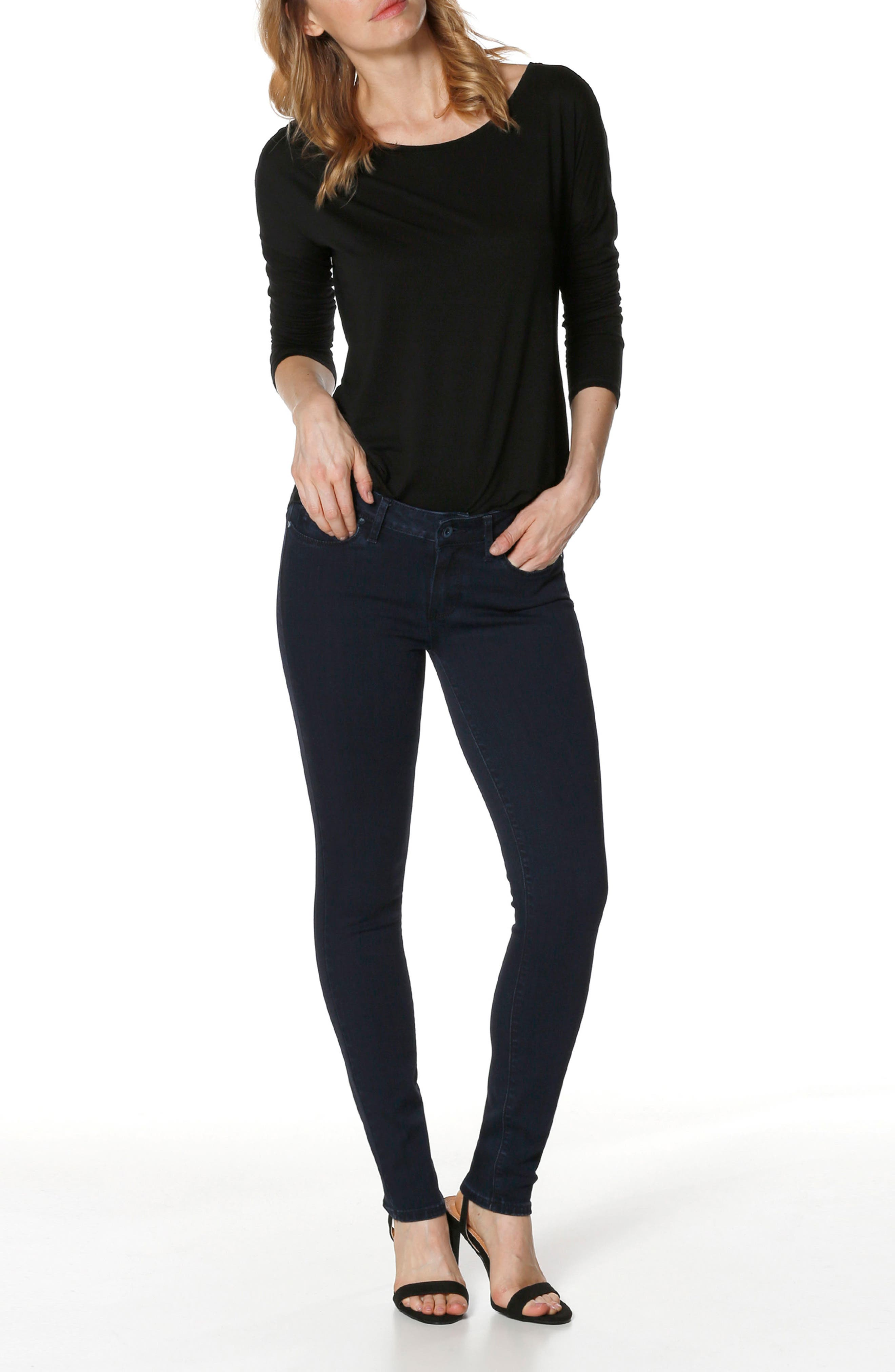 Transcend - Verdugo Ultra Skinny Jeans,                             Alternate thumbnail 2, color,                             Alley