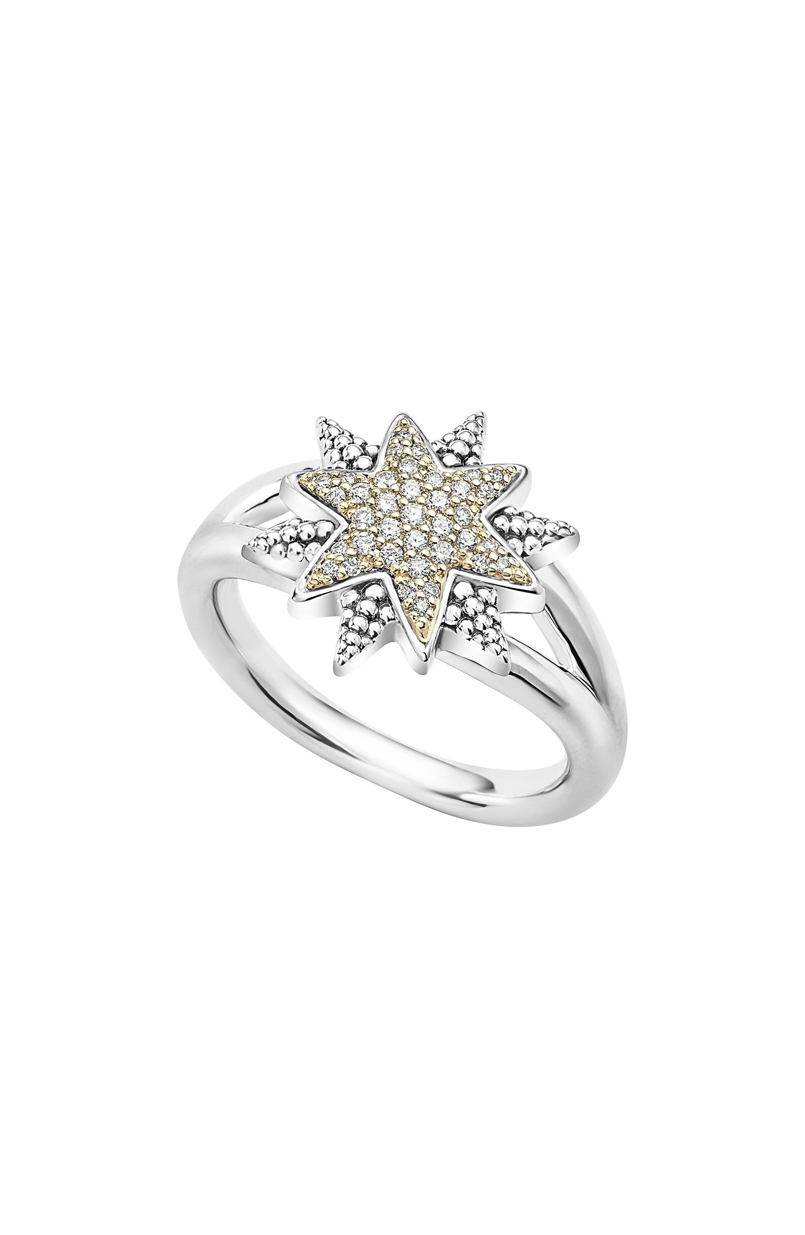North Star Ring,                             Main thumbnail 1, color,                             Diamond