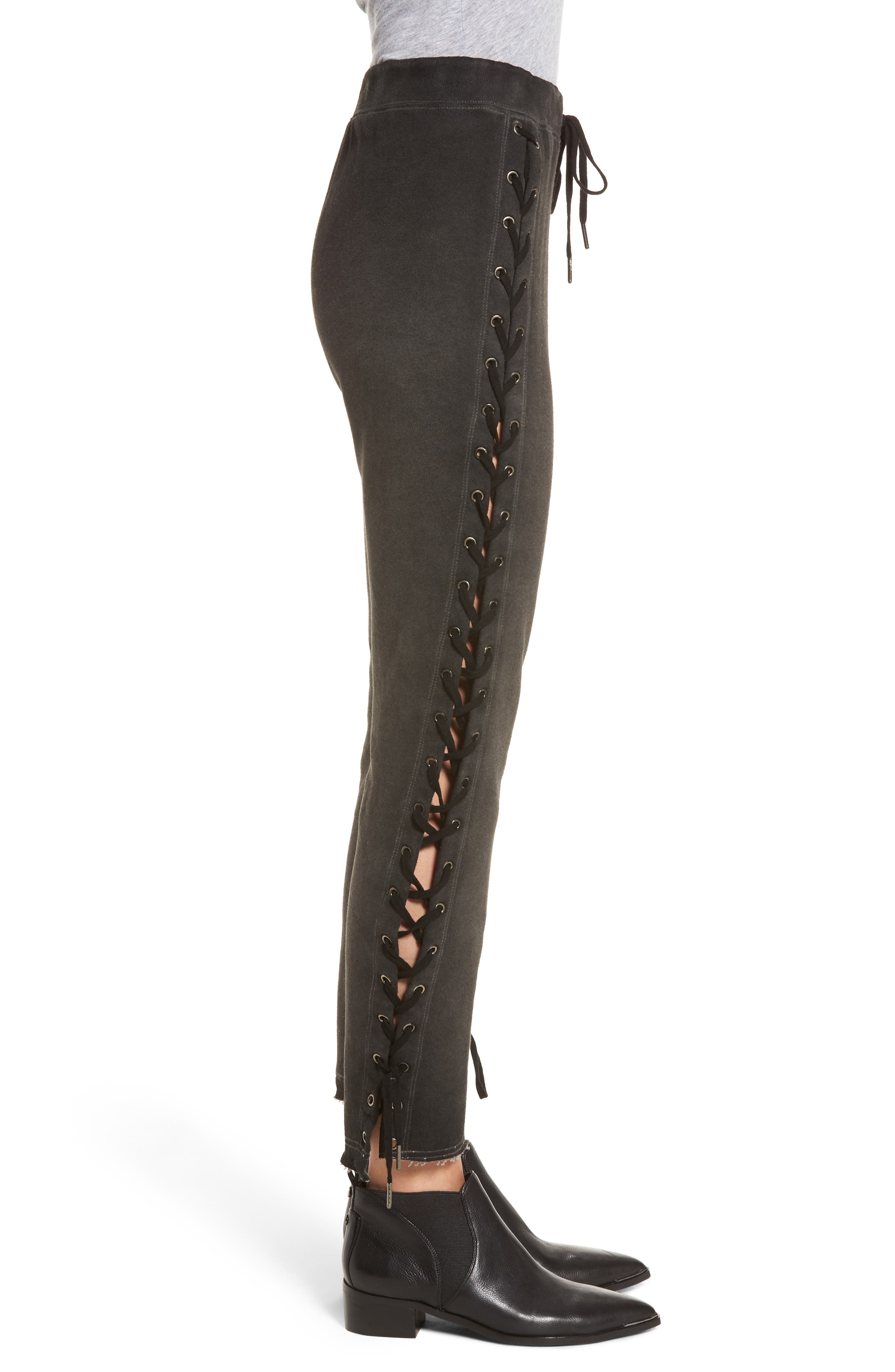 Alternate Image 3  - Pam & Gela Lace-Up Sweatpants
