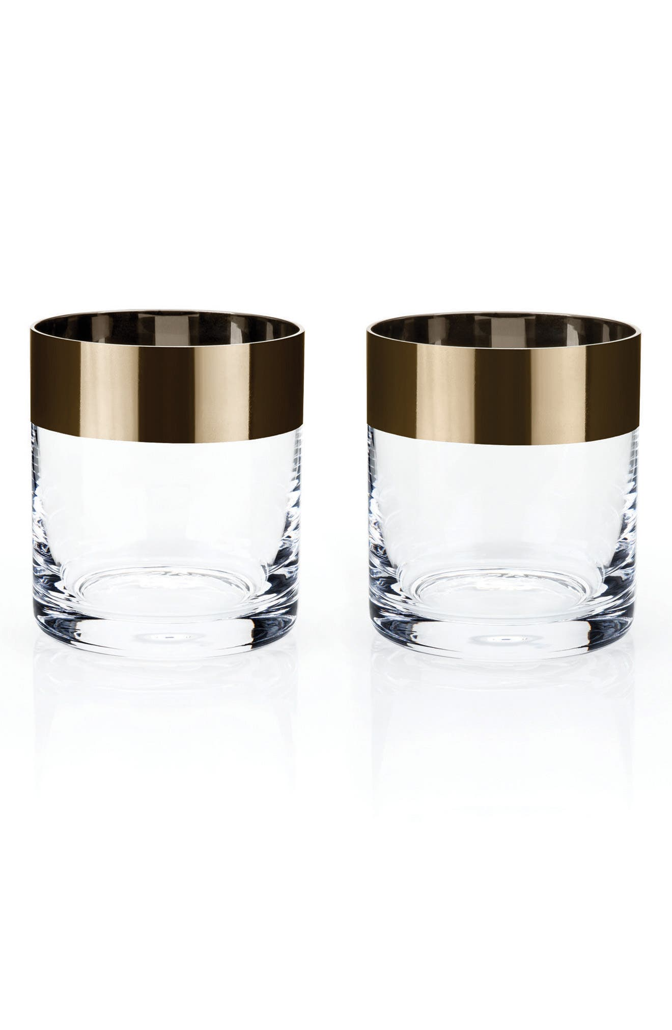 Alternate Image 1 Selected - Viski by True Fabrications Irving Set of 2 Bronze Rim Tumblers