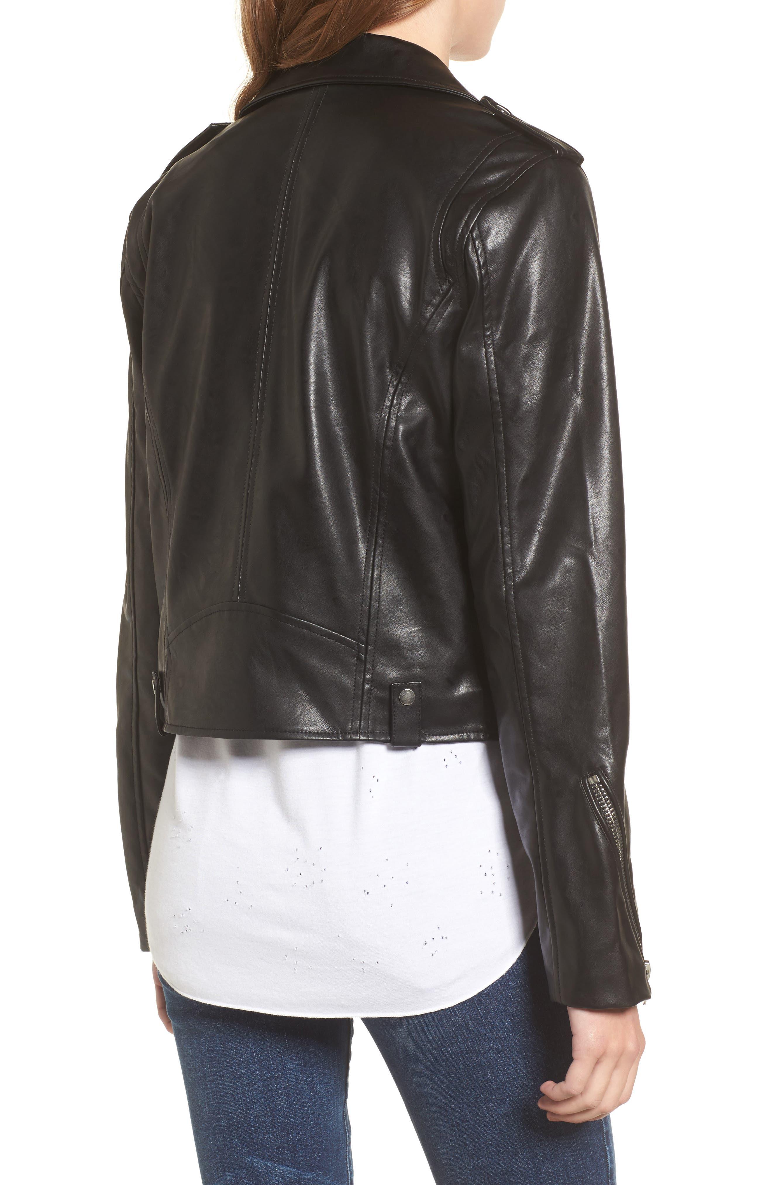 Alternate Image 2  - Vigoss Faux Leather Moto Jacket