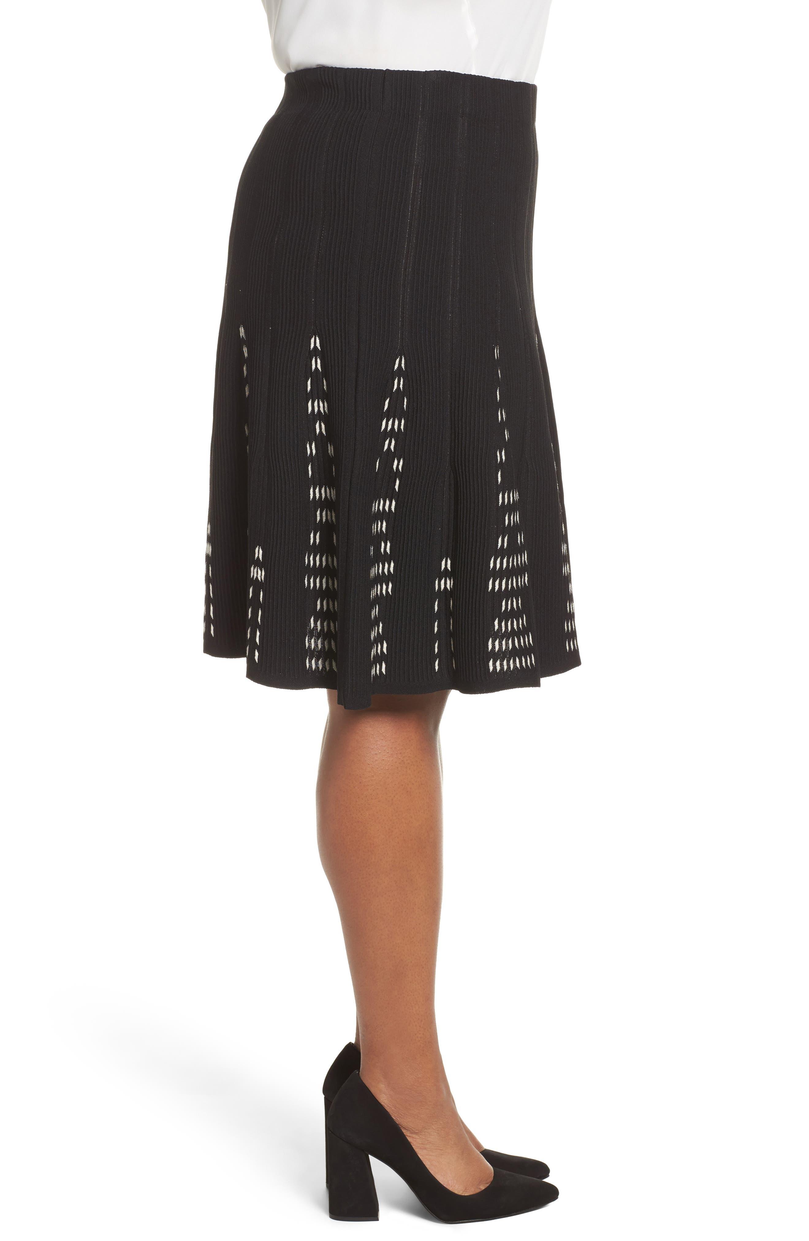 Alternate Image 3  - NIC+ZOE Hypnotic Twirl Skirt (Plus Size)