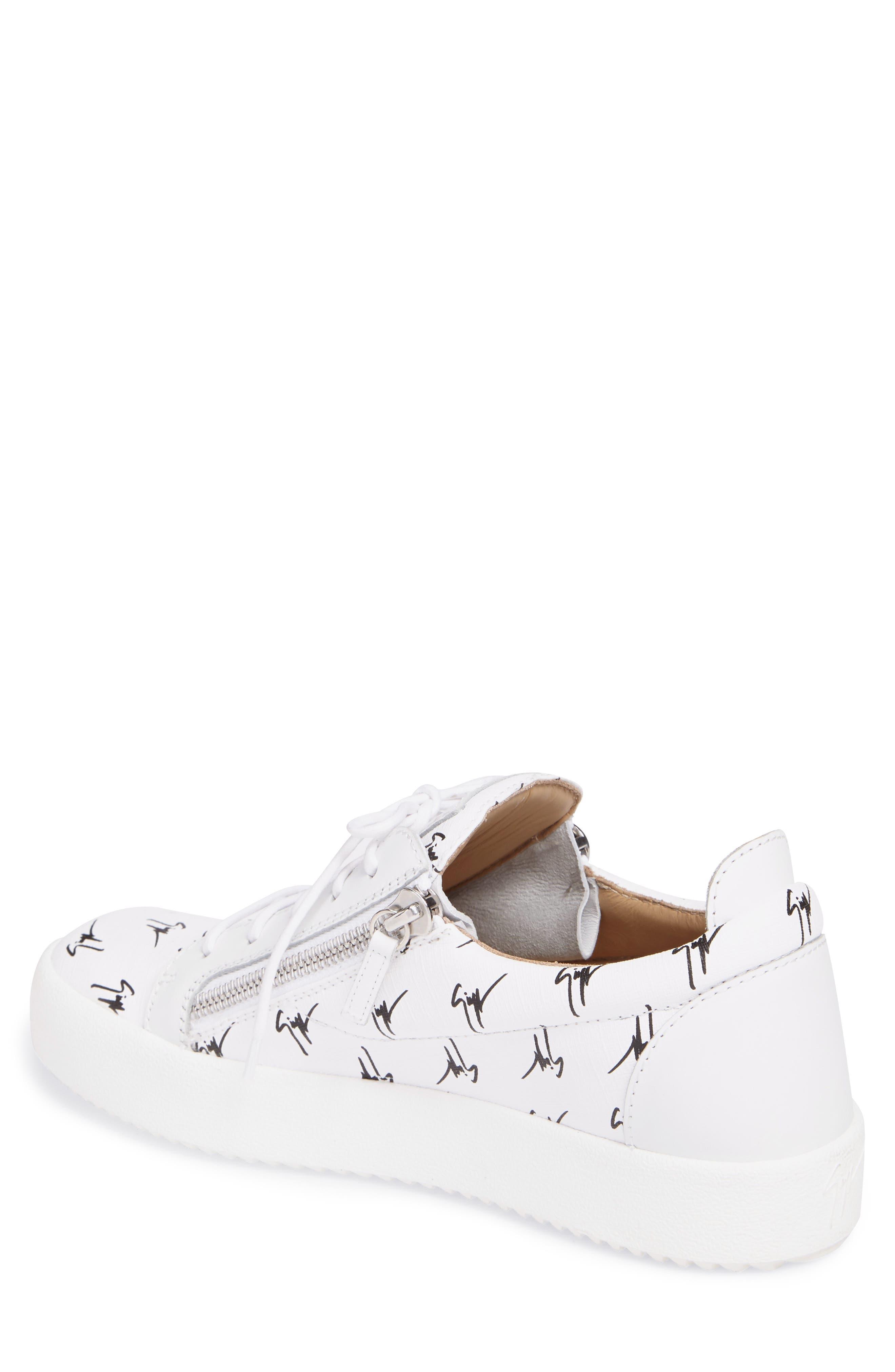 Low-Top Sneaker,                             Alternate thumbnail 2, color,                             White/Black Gz Logo