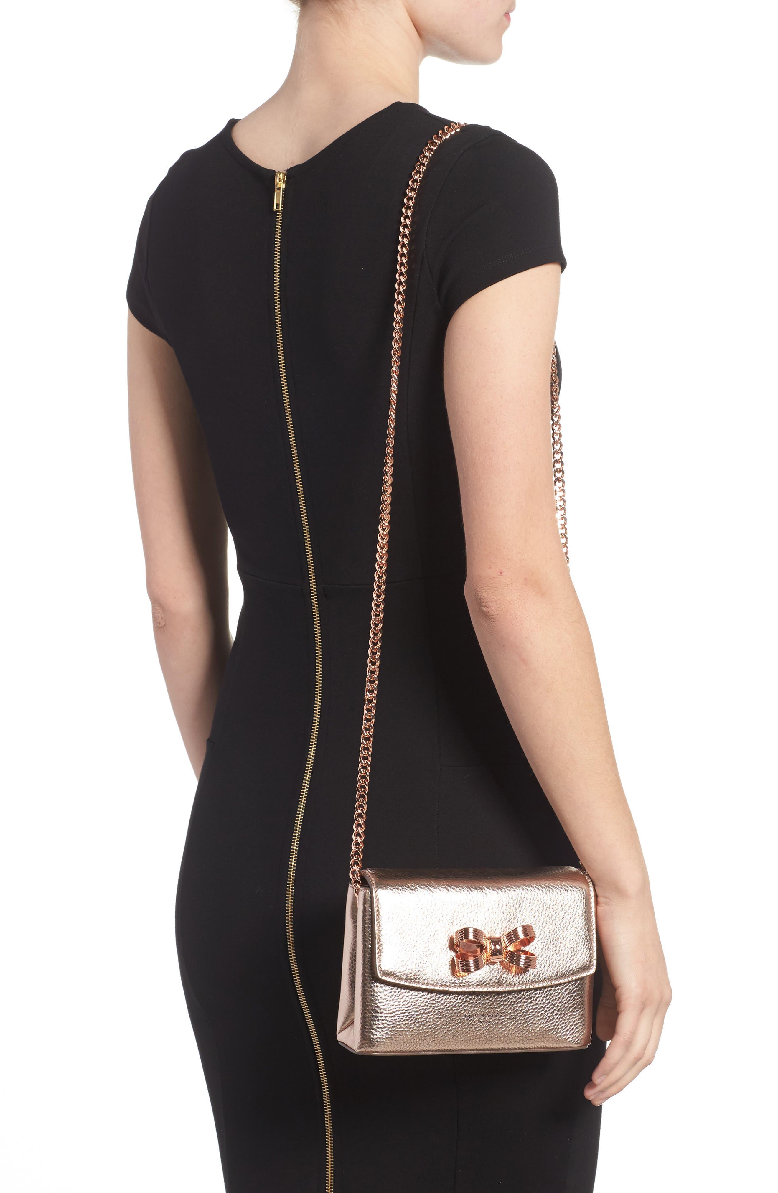 Alternate Image 2  - Ted Baker London Lupiin Metallic Leather Crossbody Bag