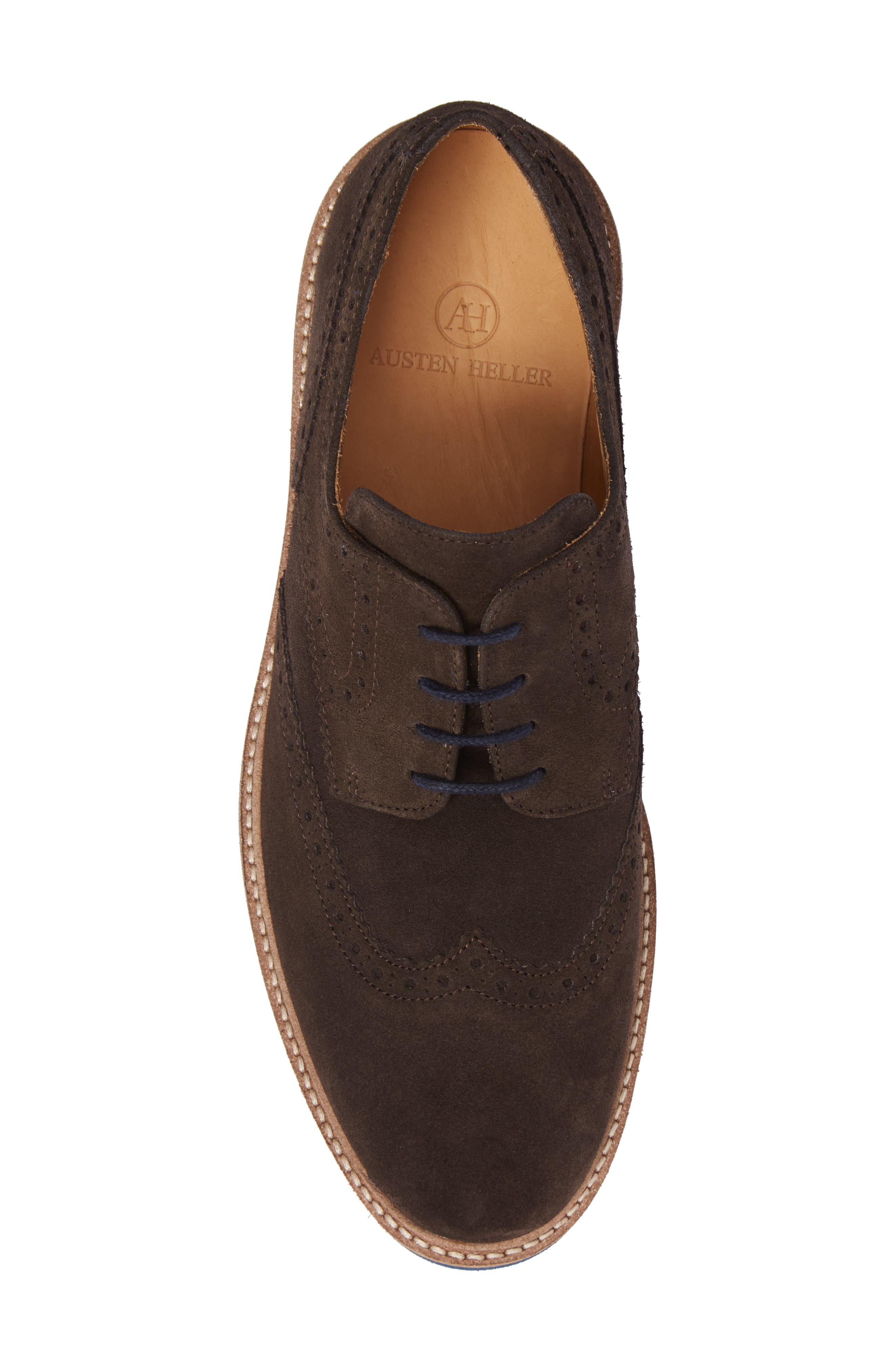 Southports Wingtip,                             Alternate thumbnail 5, color,                             Brown Suede