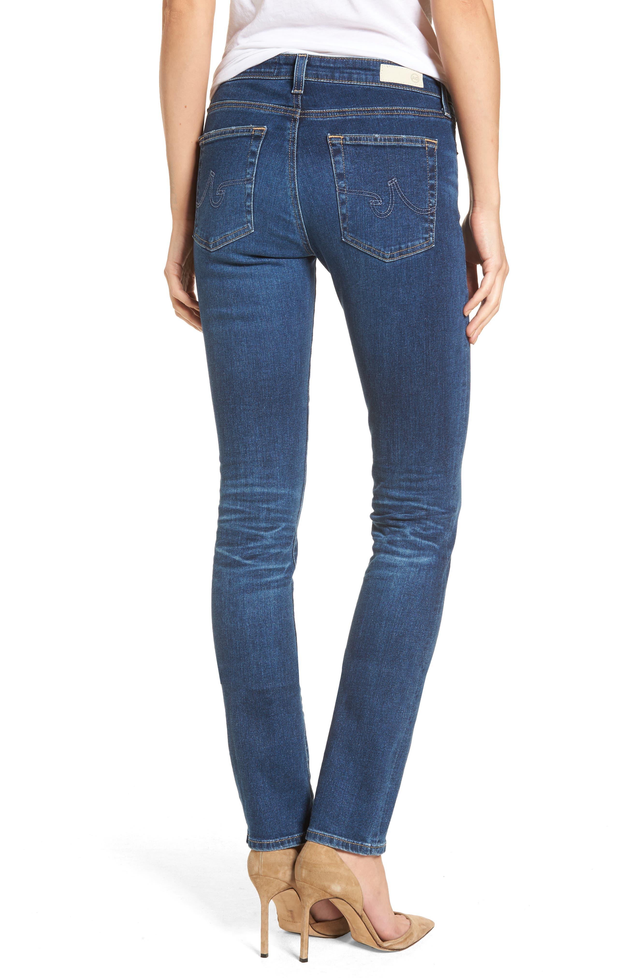 Harper Slim Straight Leg Jeans,                             Alternate thumbnail 2, color,                             8 Years Blue Portrait