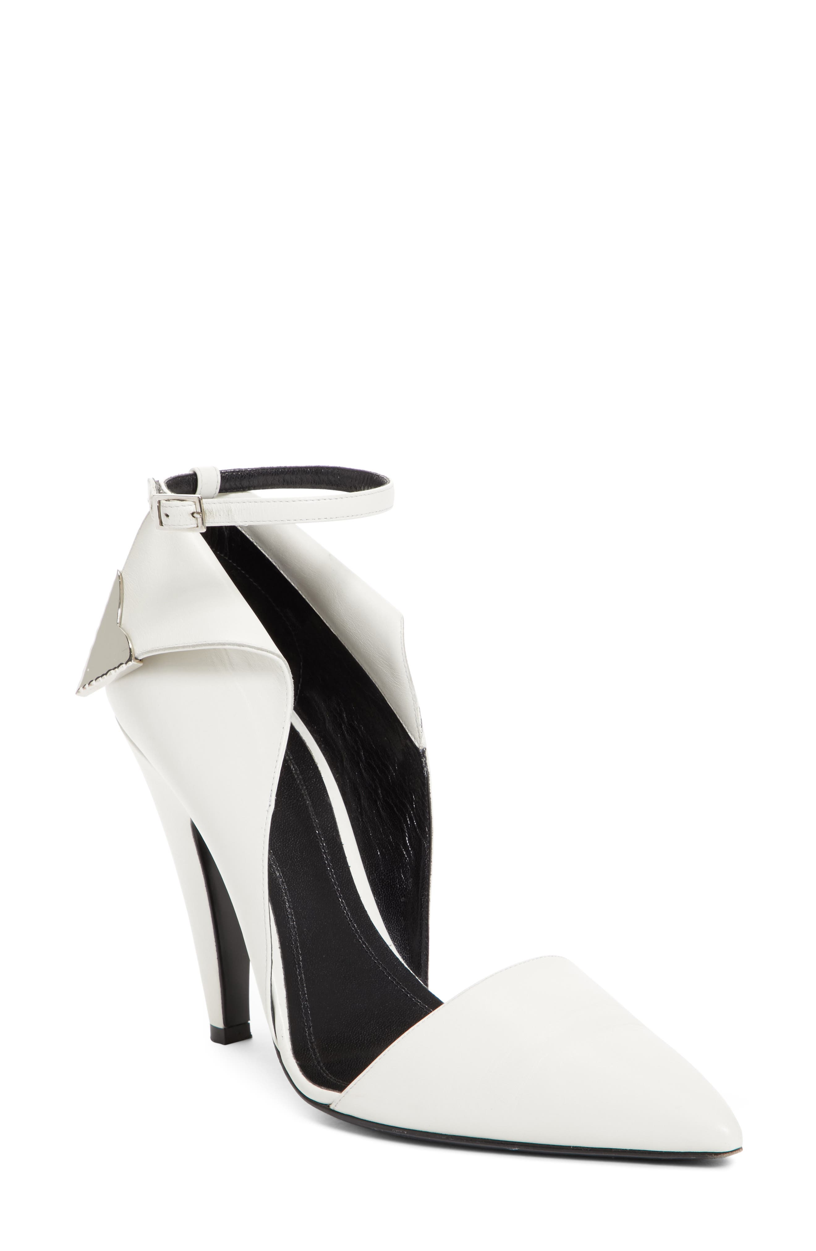 Kadence Ankle Strap Pump,                         Main,                         color, White