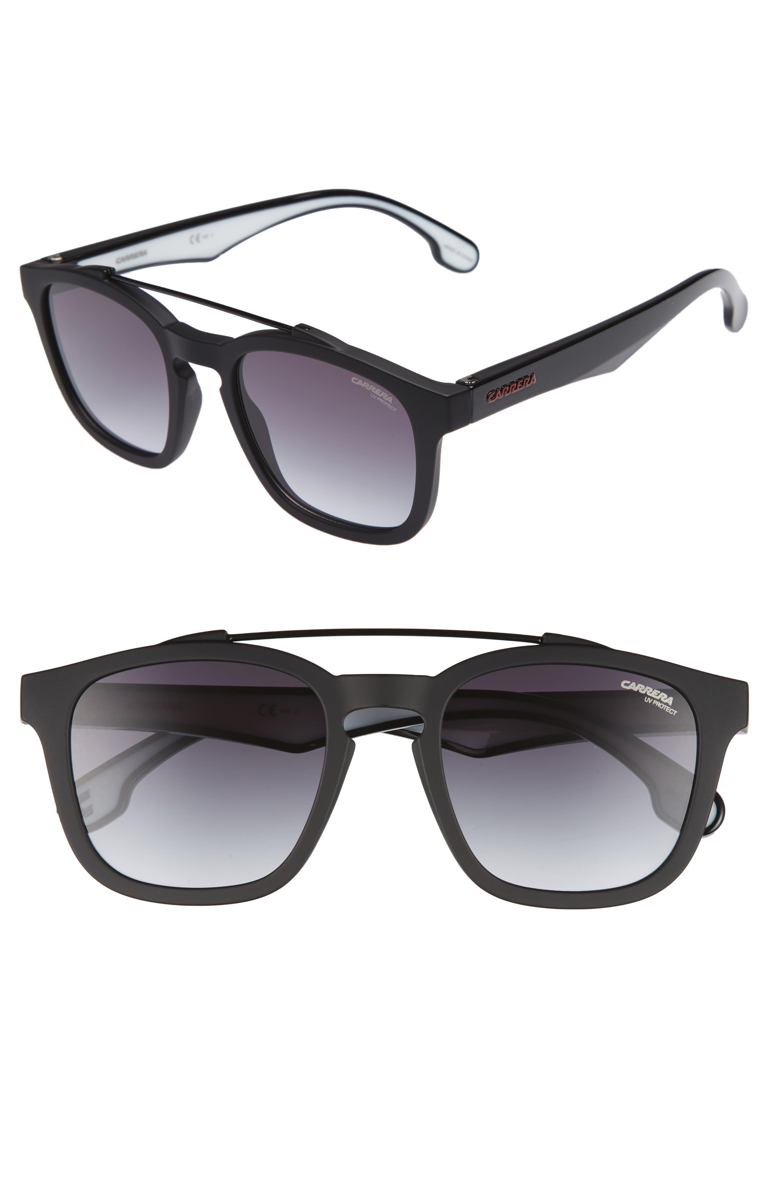 1011S Sunglasses,                         Main,                         color, Matte Black/ Drk Gray Gradient