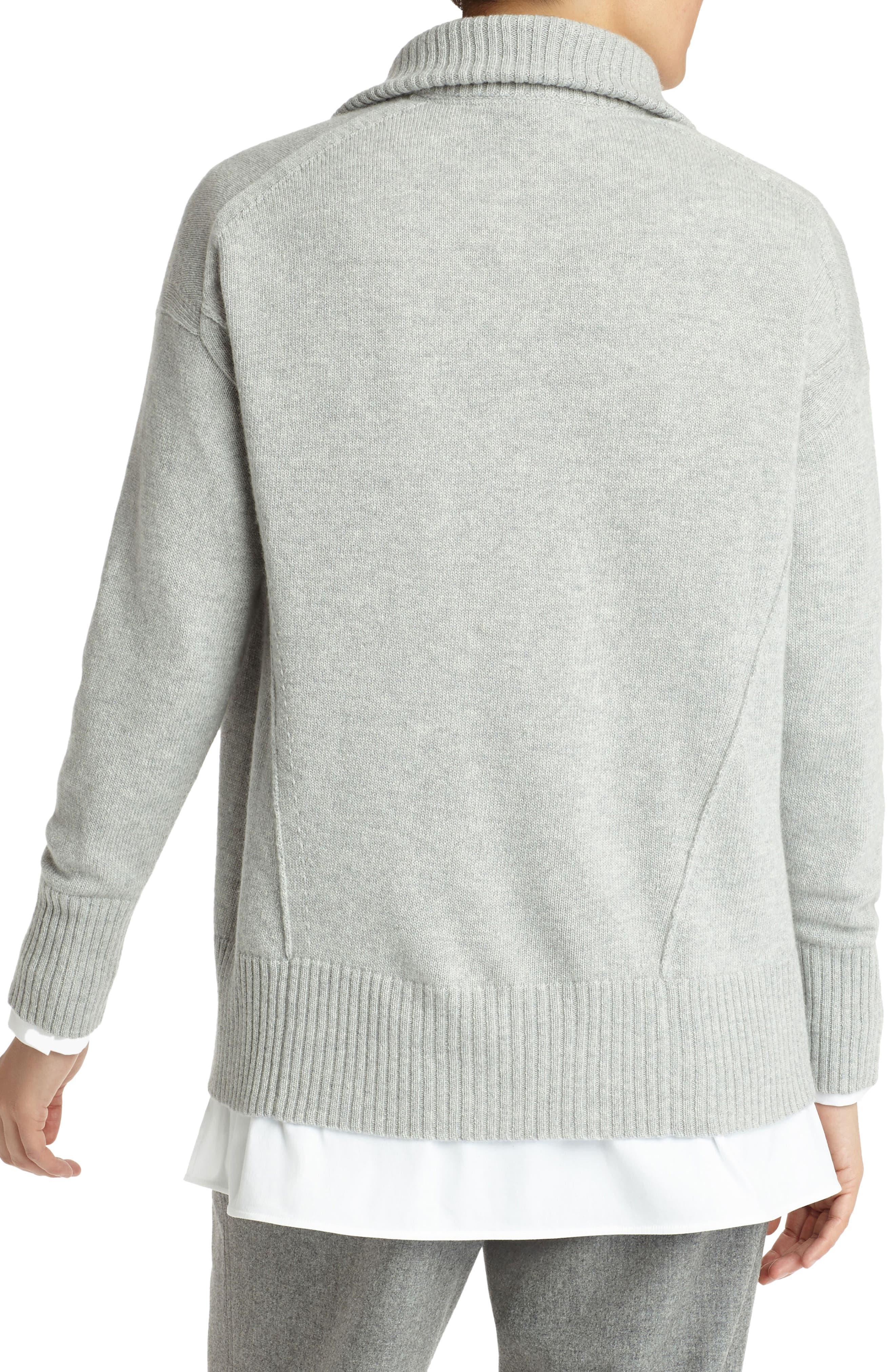 Alternate Image 2  - Lafayette 148 New York Luxe Merino Wool & Cashmere Sweater Jacket