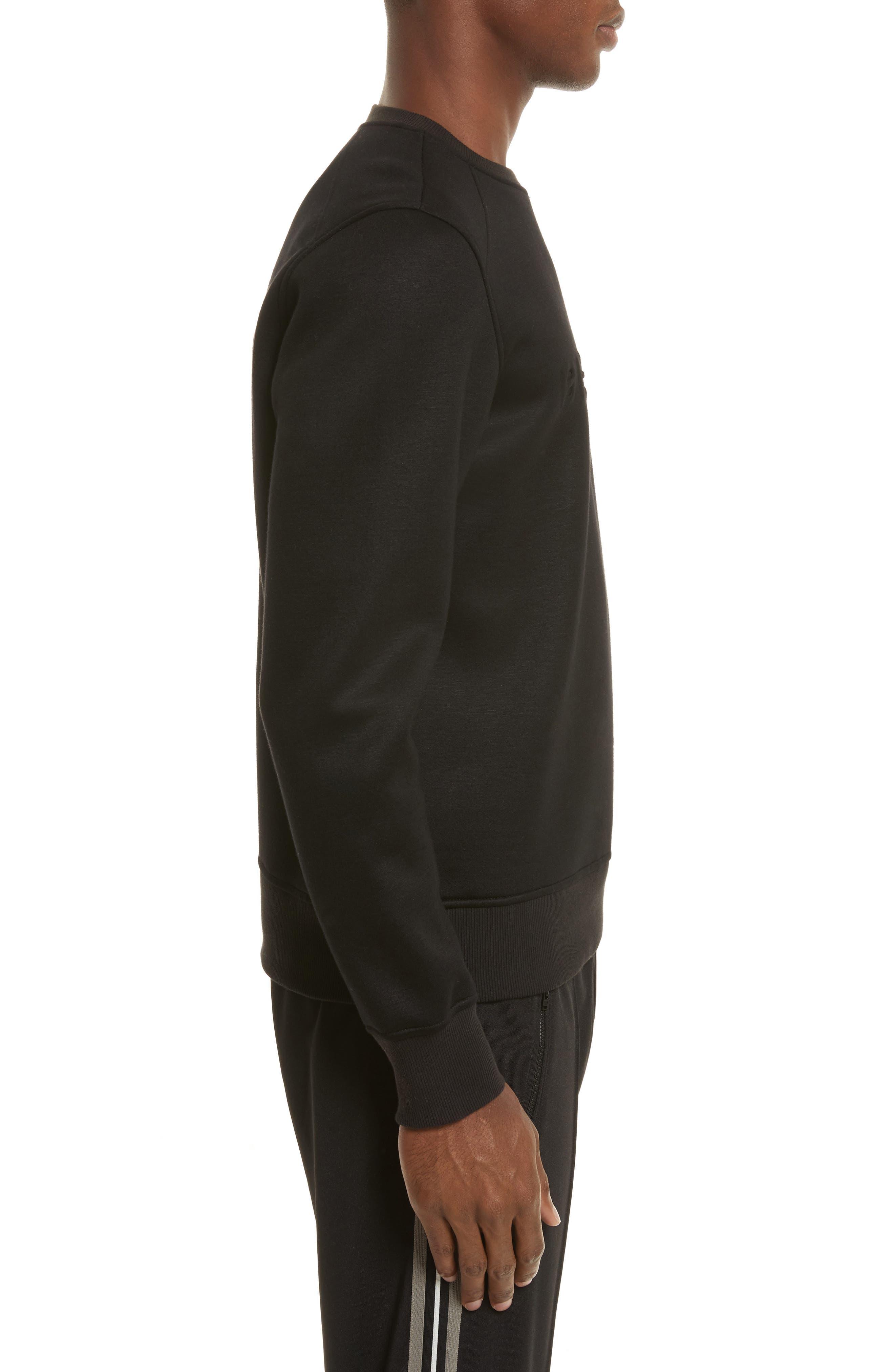 Belsford Crewneck Sweatshirt,                             Alternate thumbnail 3, color,                             Black