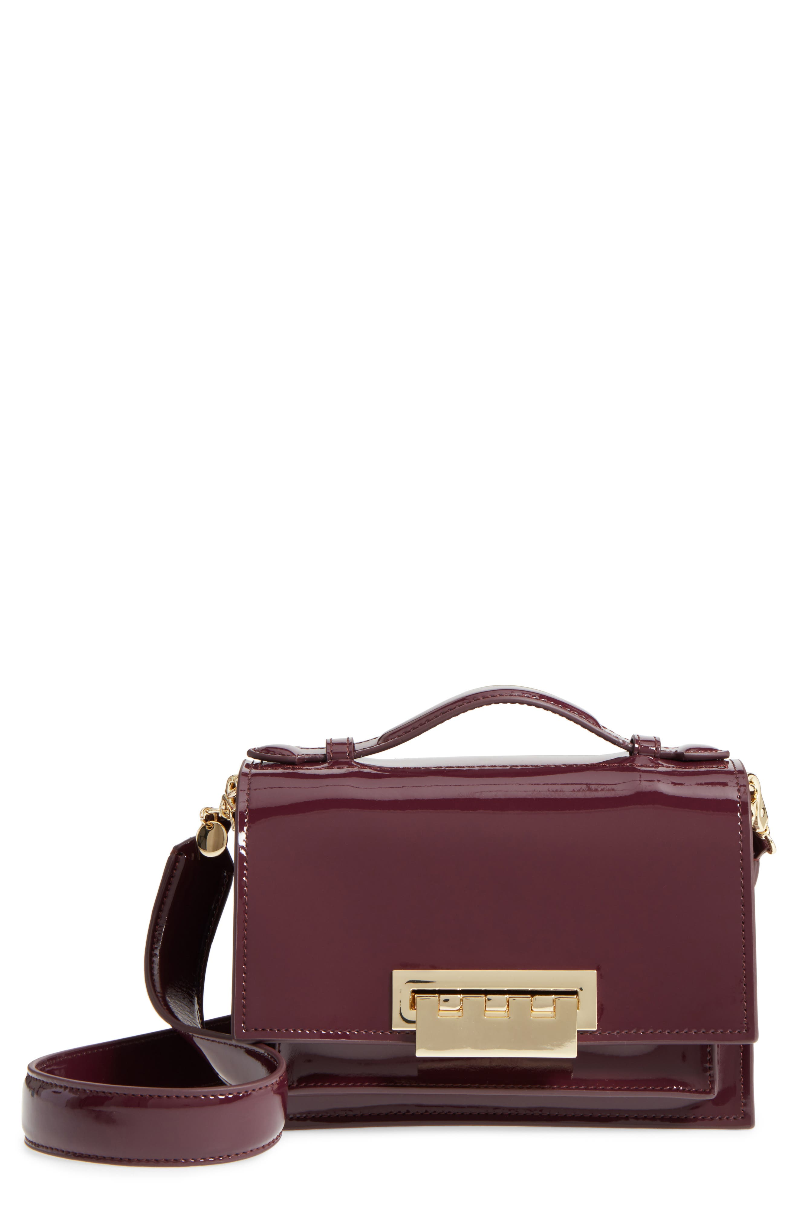 Alternate Image 1 Selected - ZAC Zac Posen Earthette Patent Leather Accordion Bag
