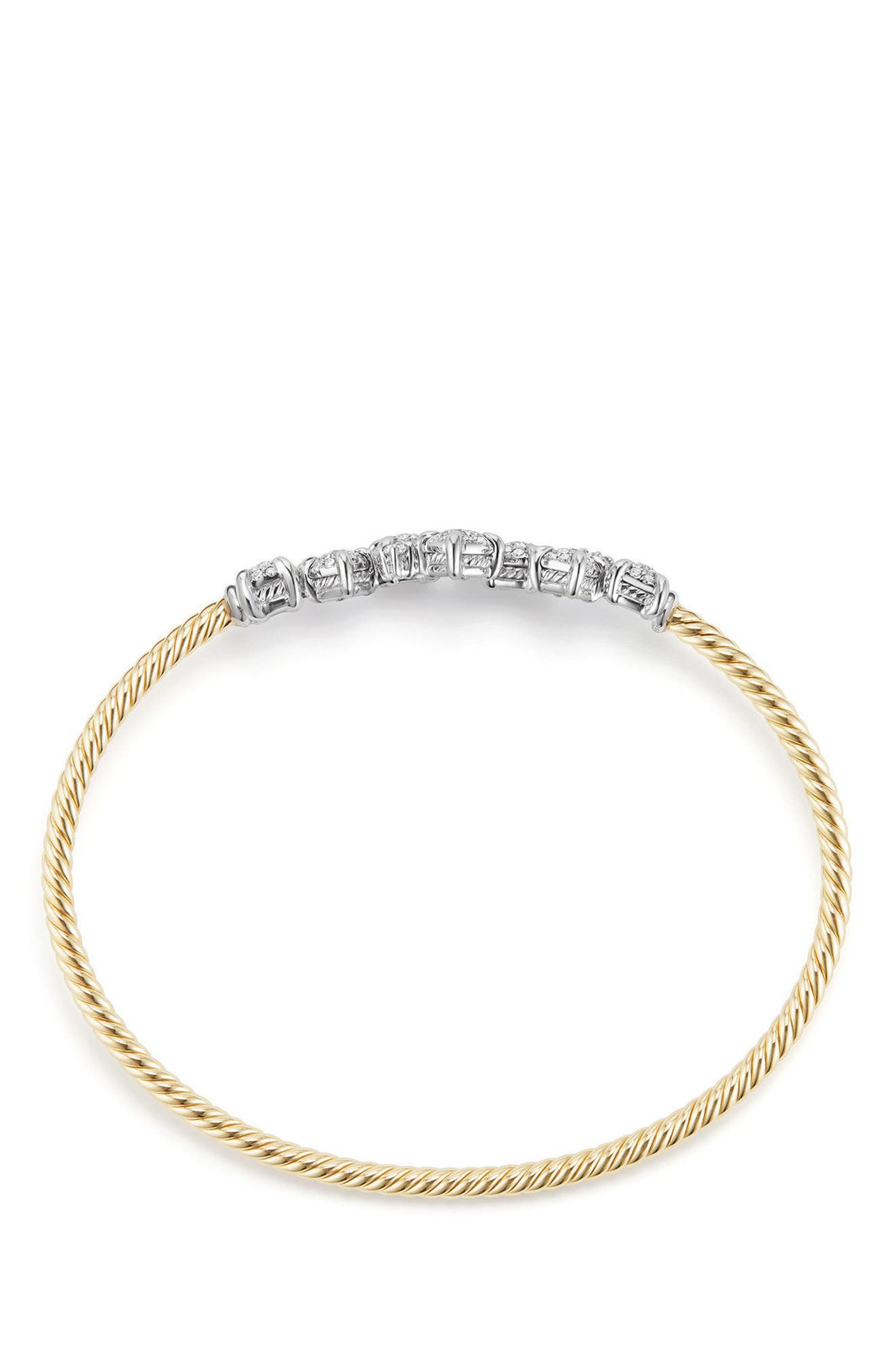 Precious Châtelaine Bracelet with Diamonds in 18K Gold,                             Alternate thumbnail 2, color,                             Yellow Gold/ Diamond