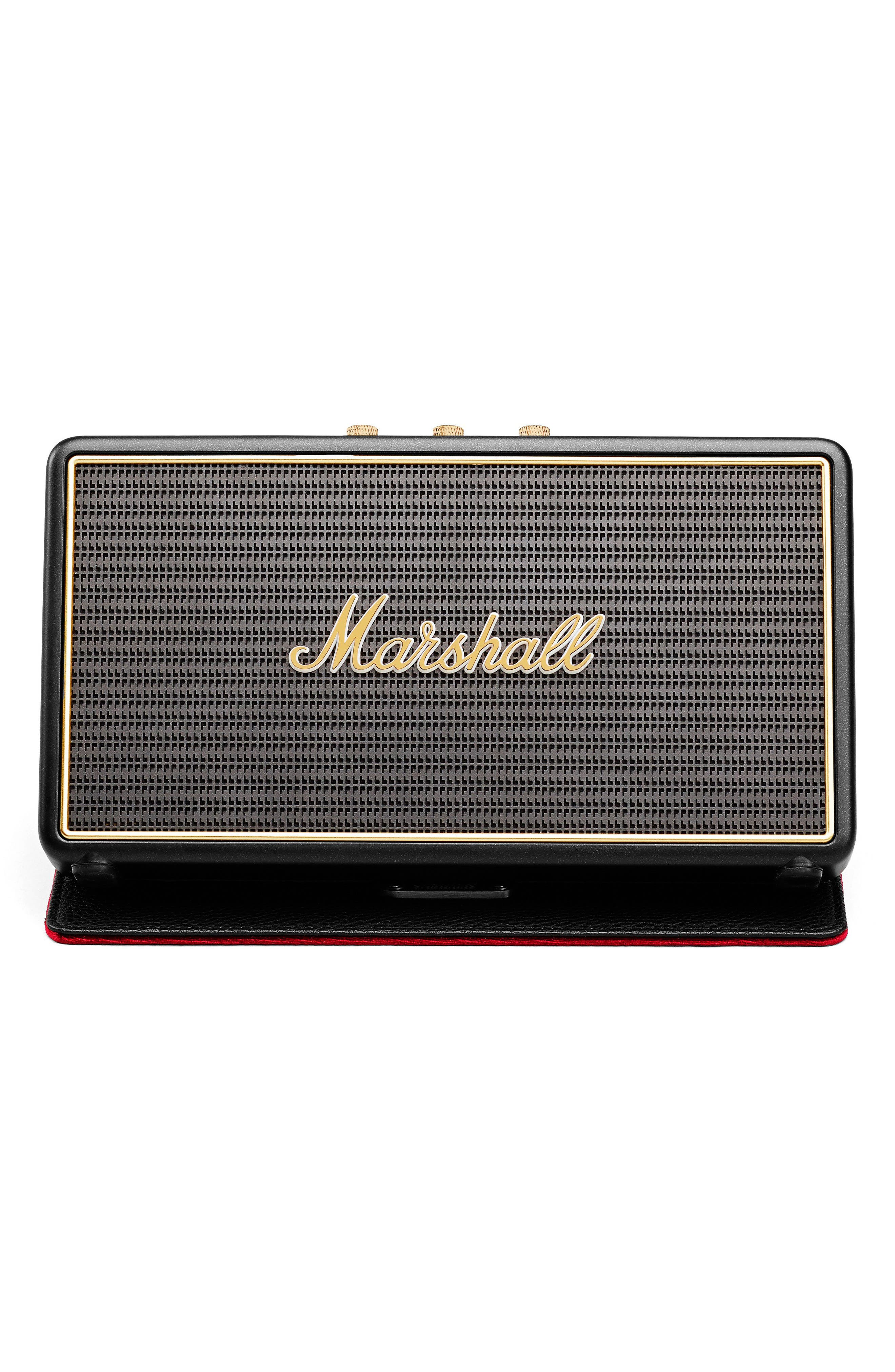 'Stockwell' Bluetooth<sup>®</sup> Speaker,                             Main thumbnail 1, color,                             Black