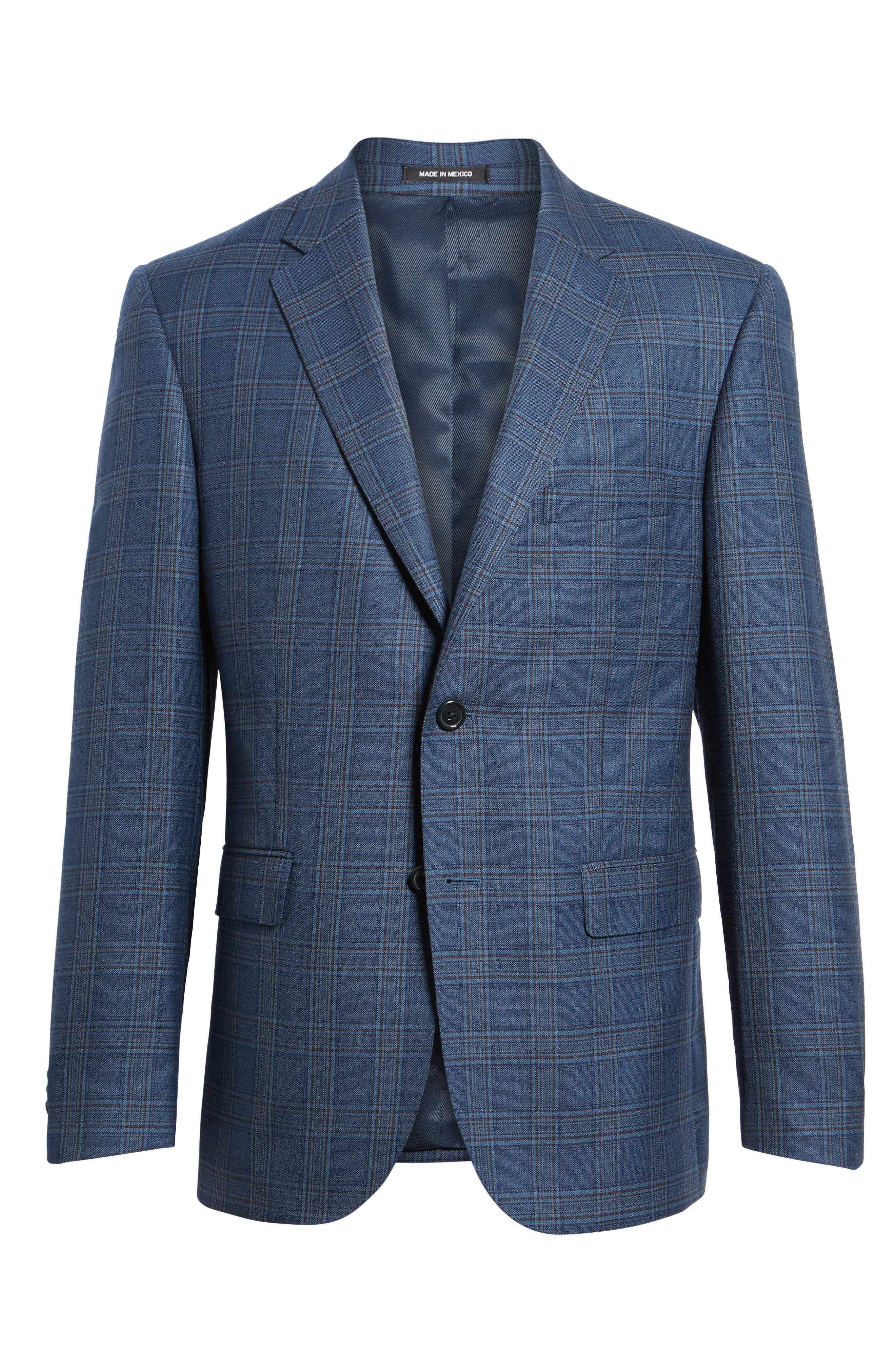 Alternate Image 6  - JB Britches Classic Fit Plaid Wool Sport Coat