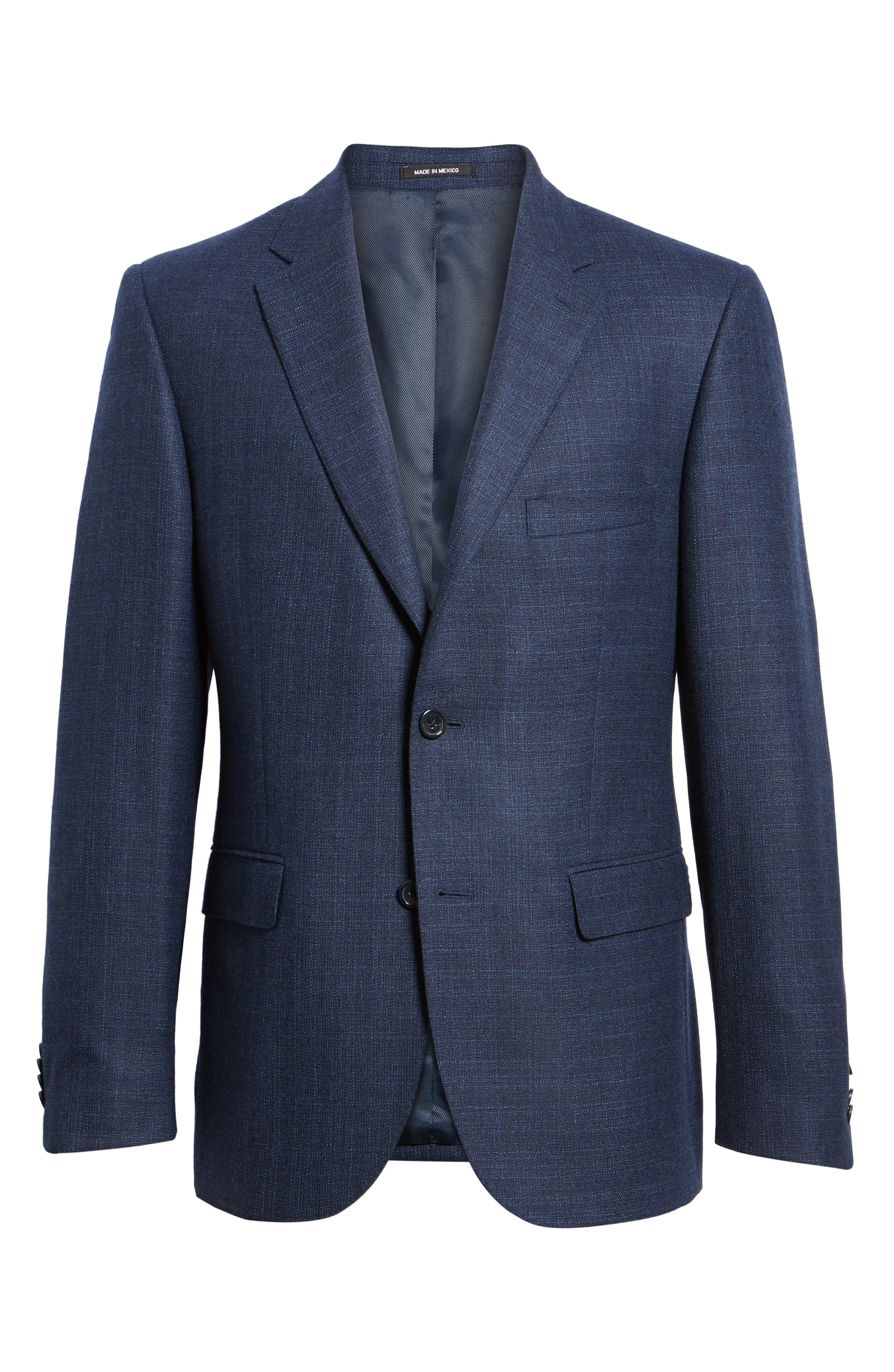 Classic Fit Wool Blazer,                             Alternate thumbnail 6, color,                             Blue