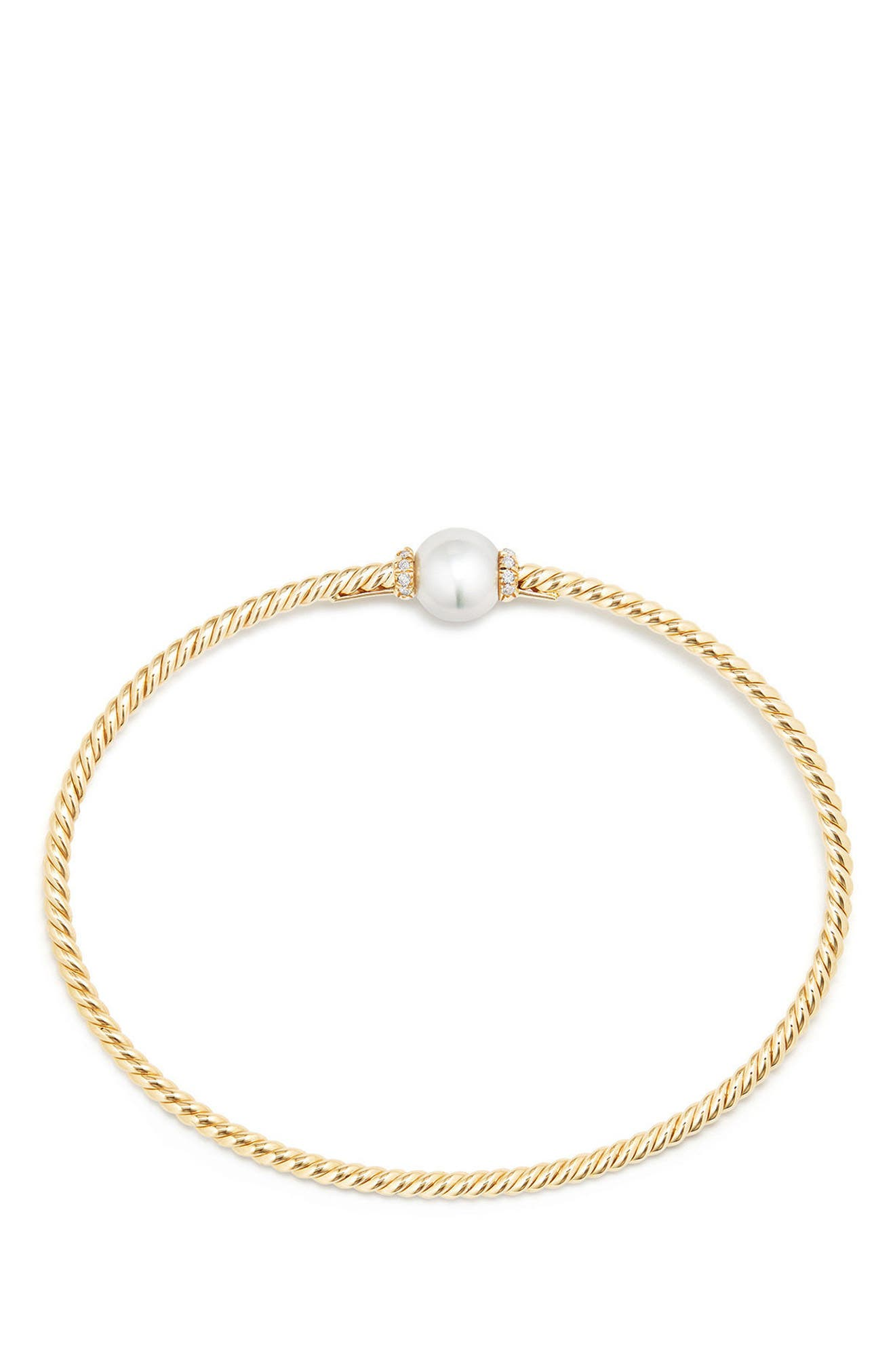 Solari Station Bracelet with Cultured Pearl & Diamonds in 18K Gold,                             Alternate thumbnail 2, color,                             Yellow Gold/ Diamond/ Pearl